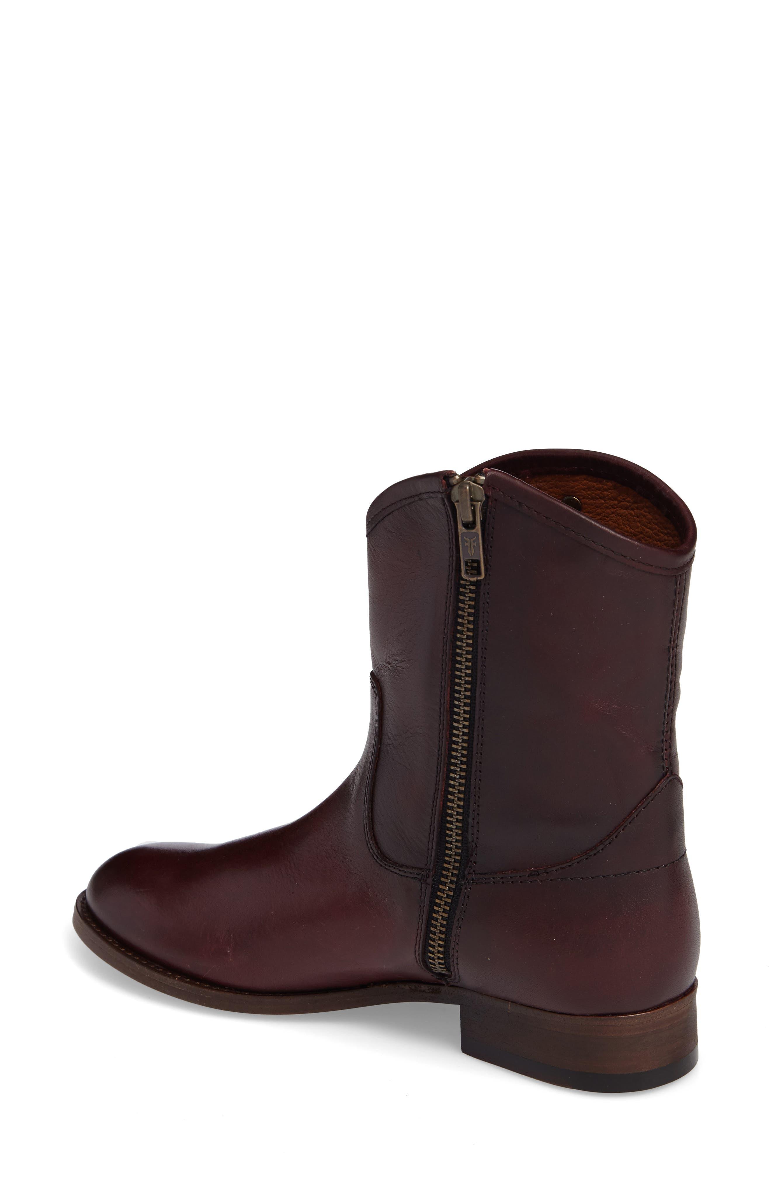 Melissa Short 2 Boot,                             Alternate thumbnail 2, color,                             Wine Leather