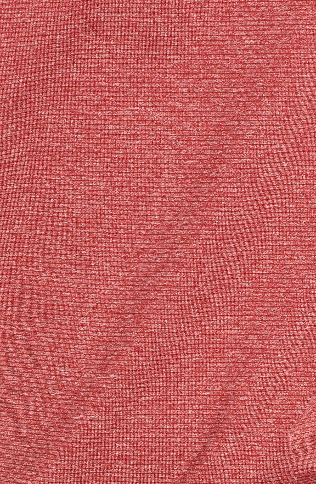 Shoreline - Arizona Cardinals Half Zip Pullover,                             Alternate thumbnail 5, color,                             Cardinal Red Heather