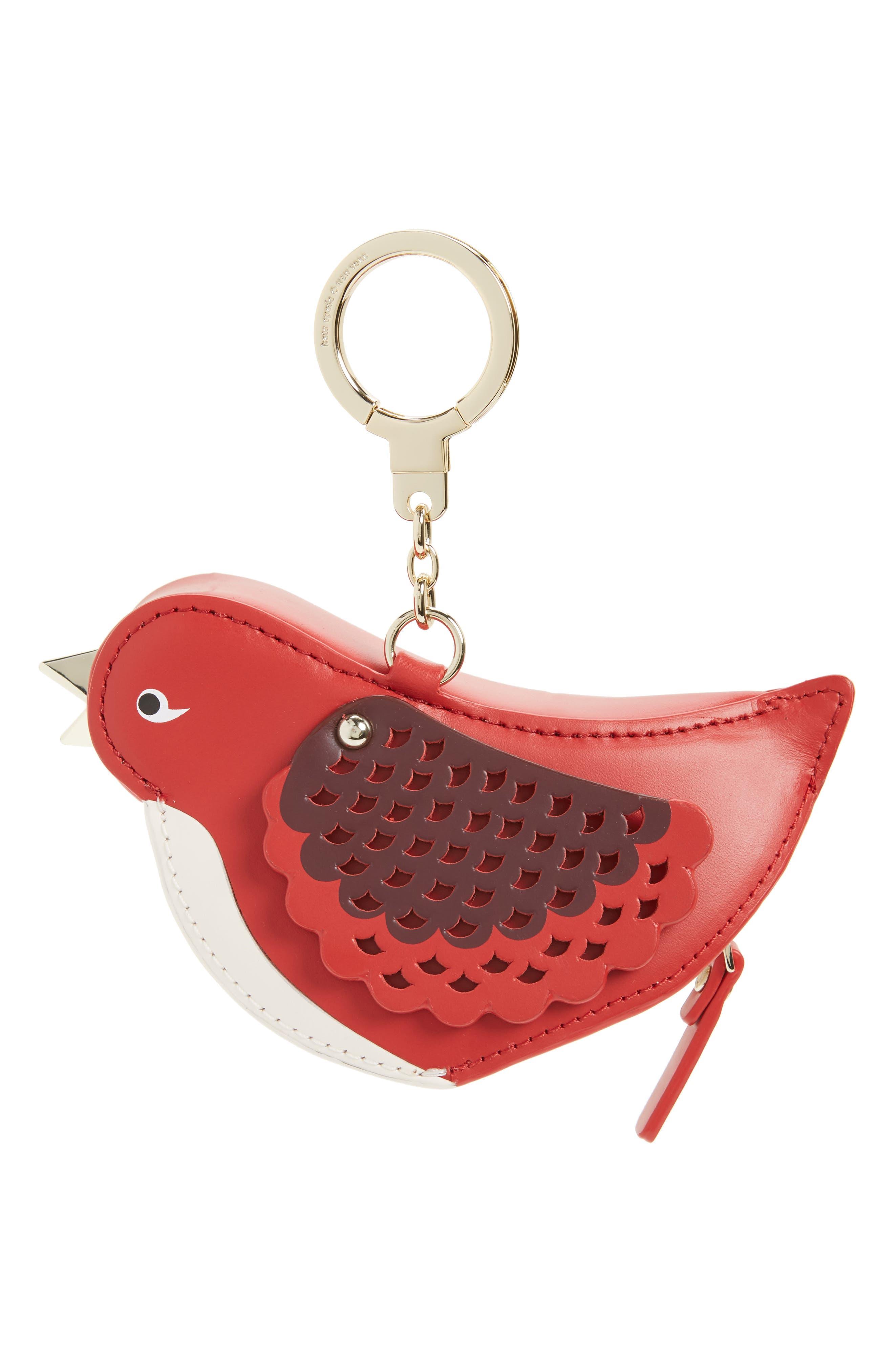 kate spade new york ooh la la 3d bird leather coin purse
