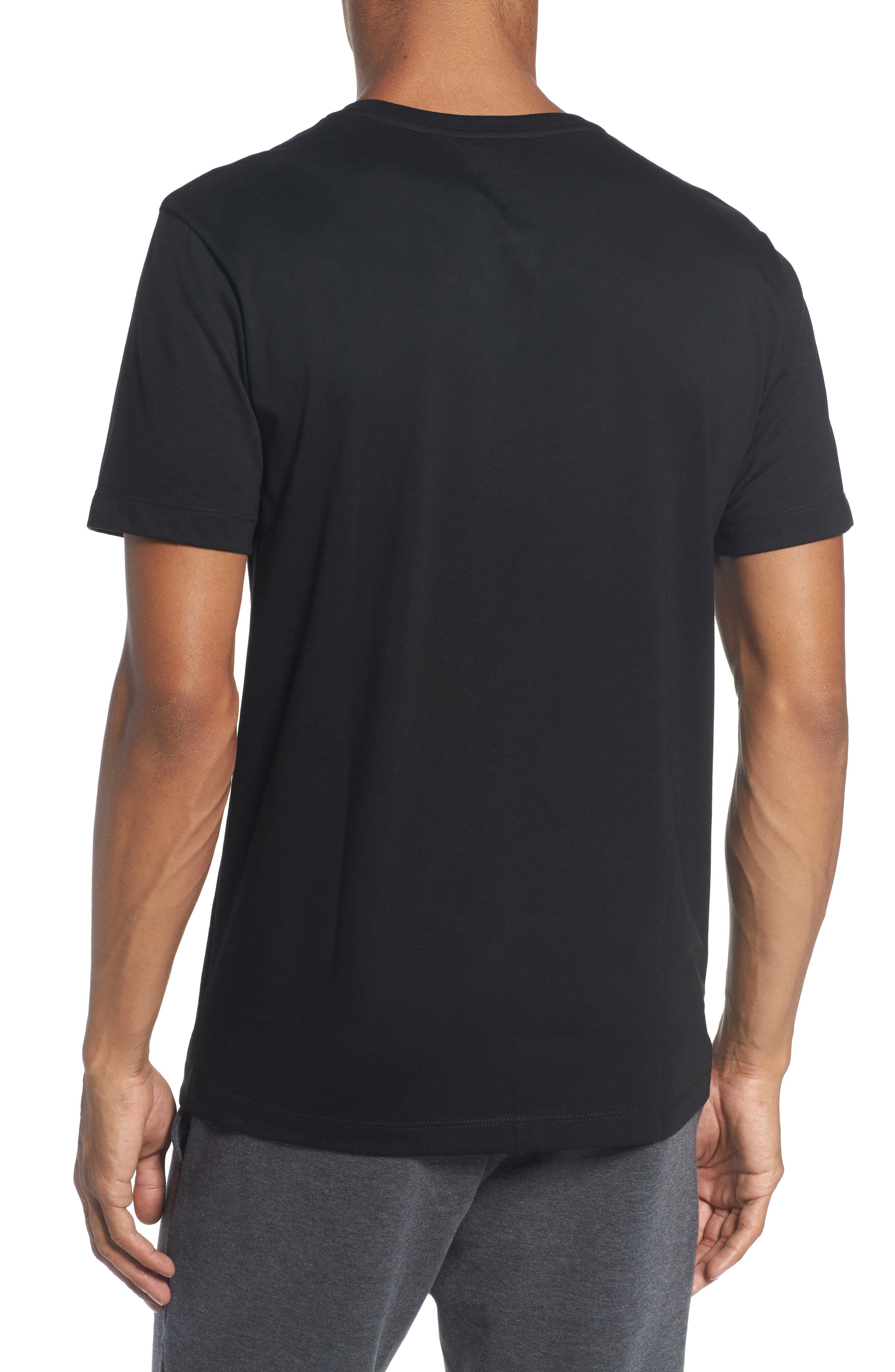 Henley T-Shirt,                             Alternate thumbnail 2, color,                             Black
