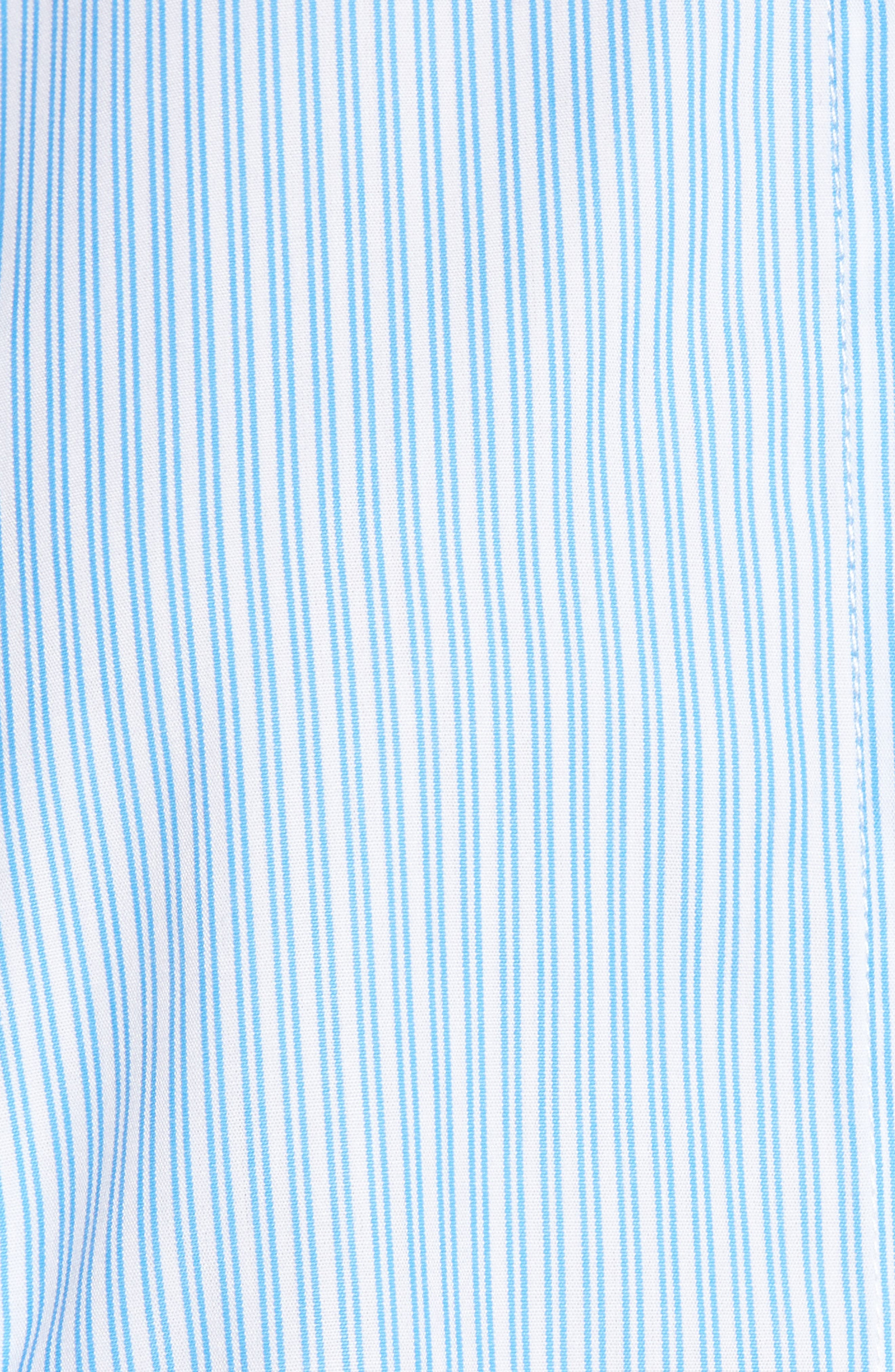 Girl Meets Boy Ruffle Top,                             Alternate thumbnail 6, color,                             Striped Blue