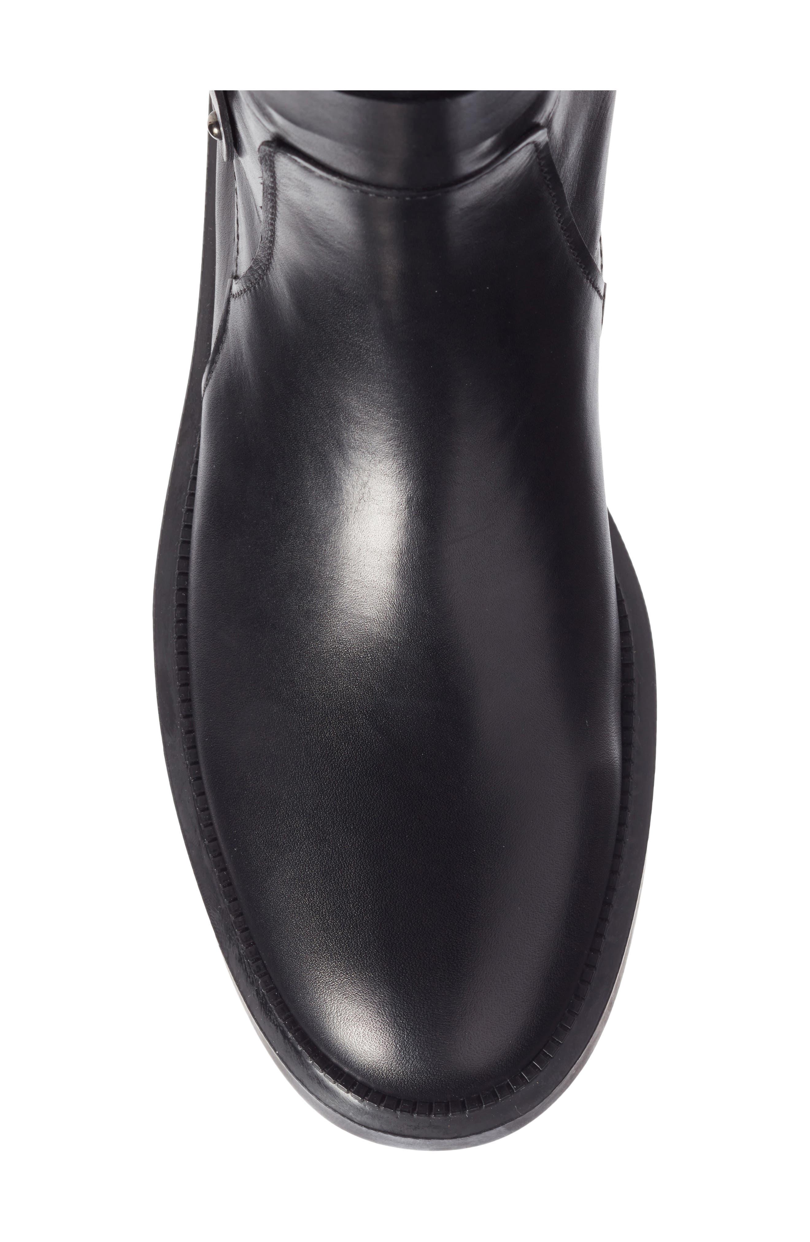 Leonie Weatherproof Leather Boot,                             Alternate thumbnail 6, color,                             Black Calf
