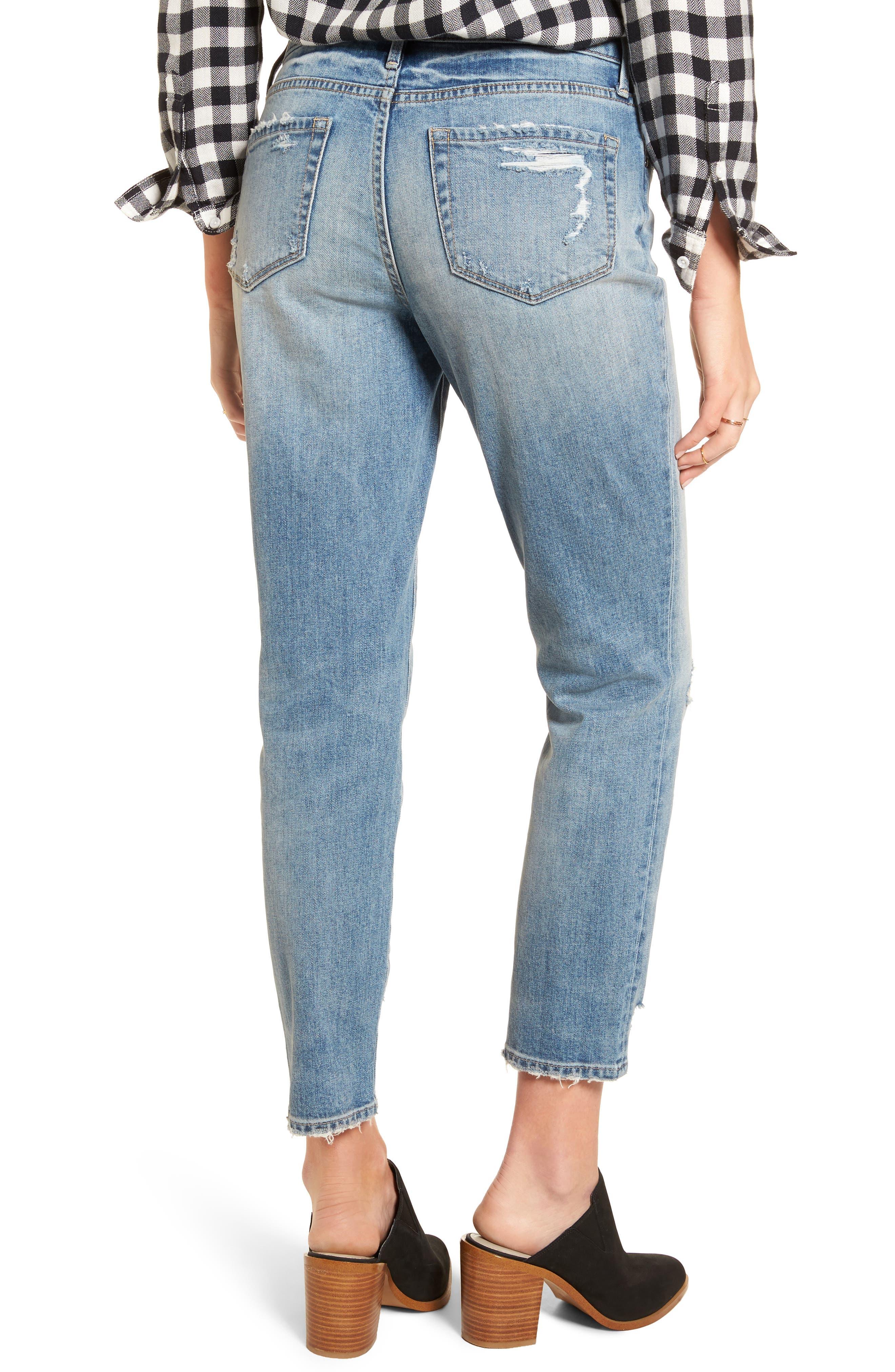 Loose Fit Slim Jeans,                             Alternate thumbnail 2, color,                             Gravel Light Destroy