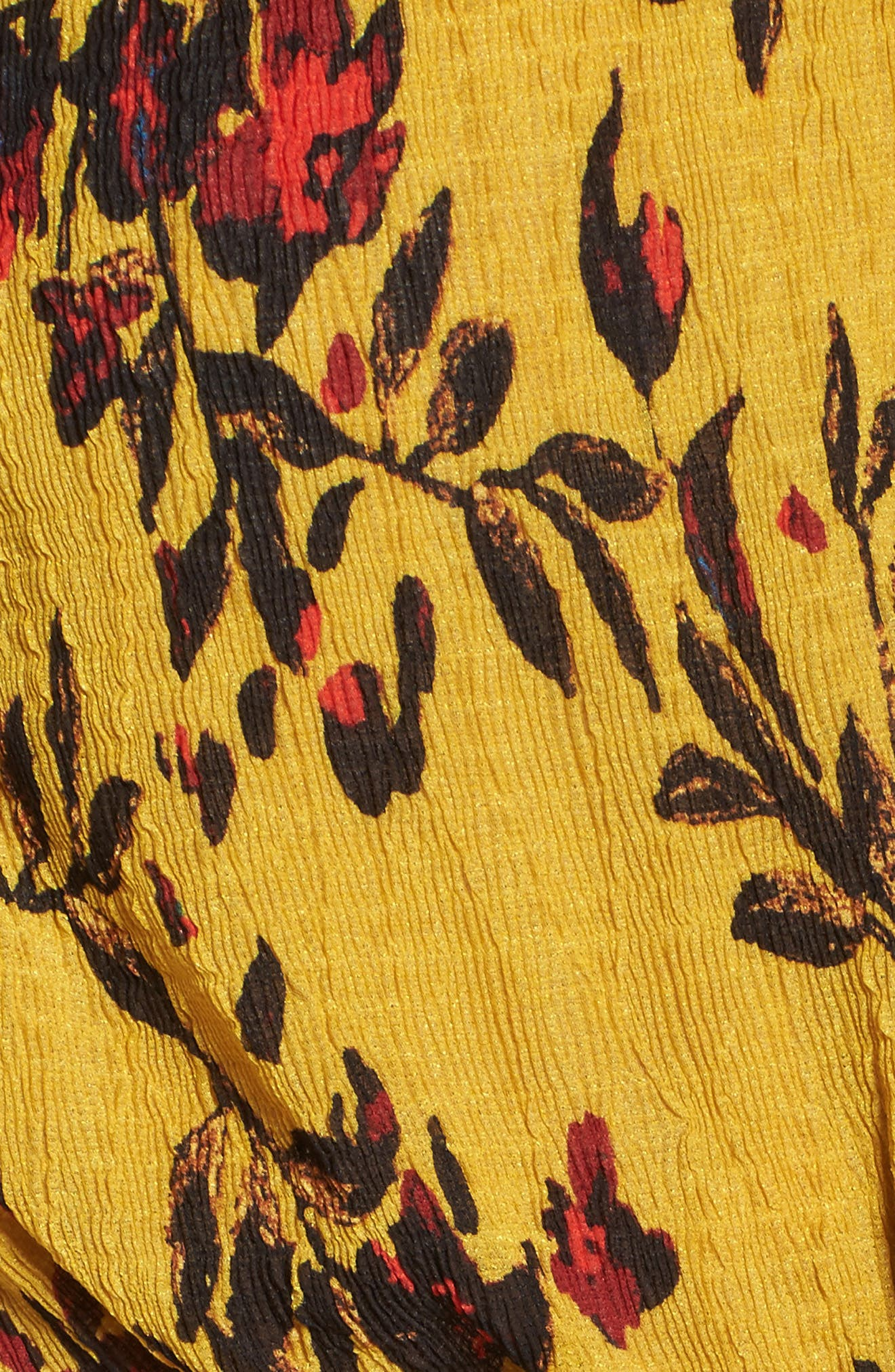 Alternate Image 5  - Foxiedox Windsome Floral Cold Shoulder Wrap Dress