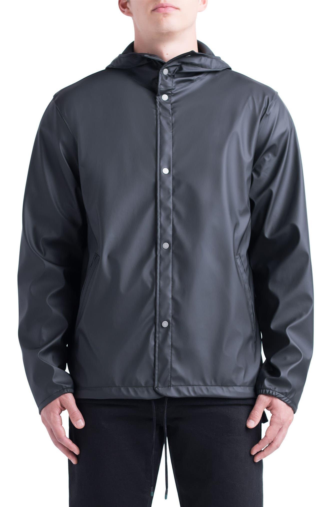 Forecast Hooded Coaches Jacket,                         Main,                         color, Black