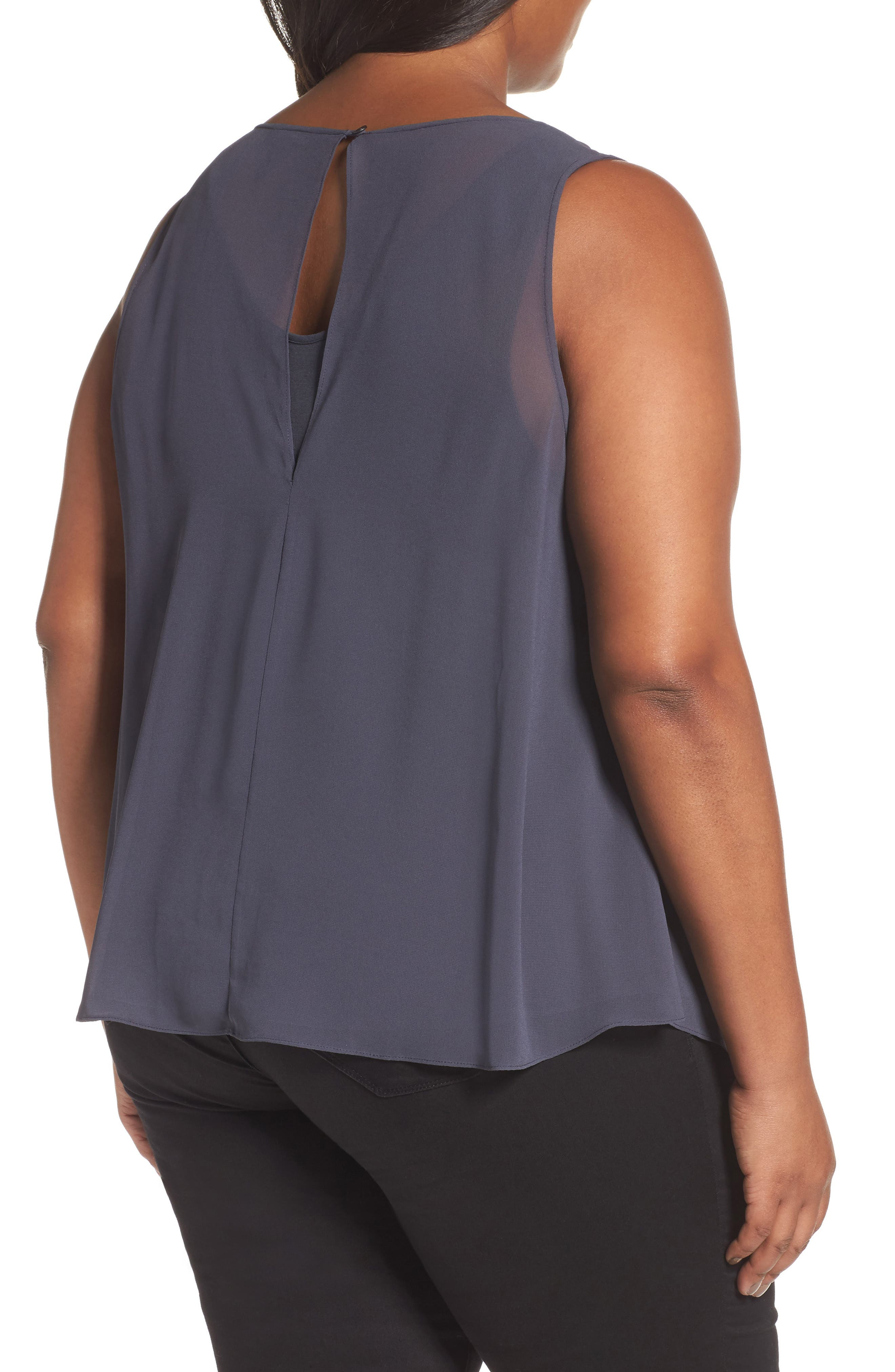 Alternate Image 2  - NIC+ZOE Sheer Collection Top (Plus Size)