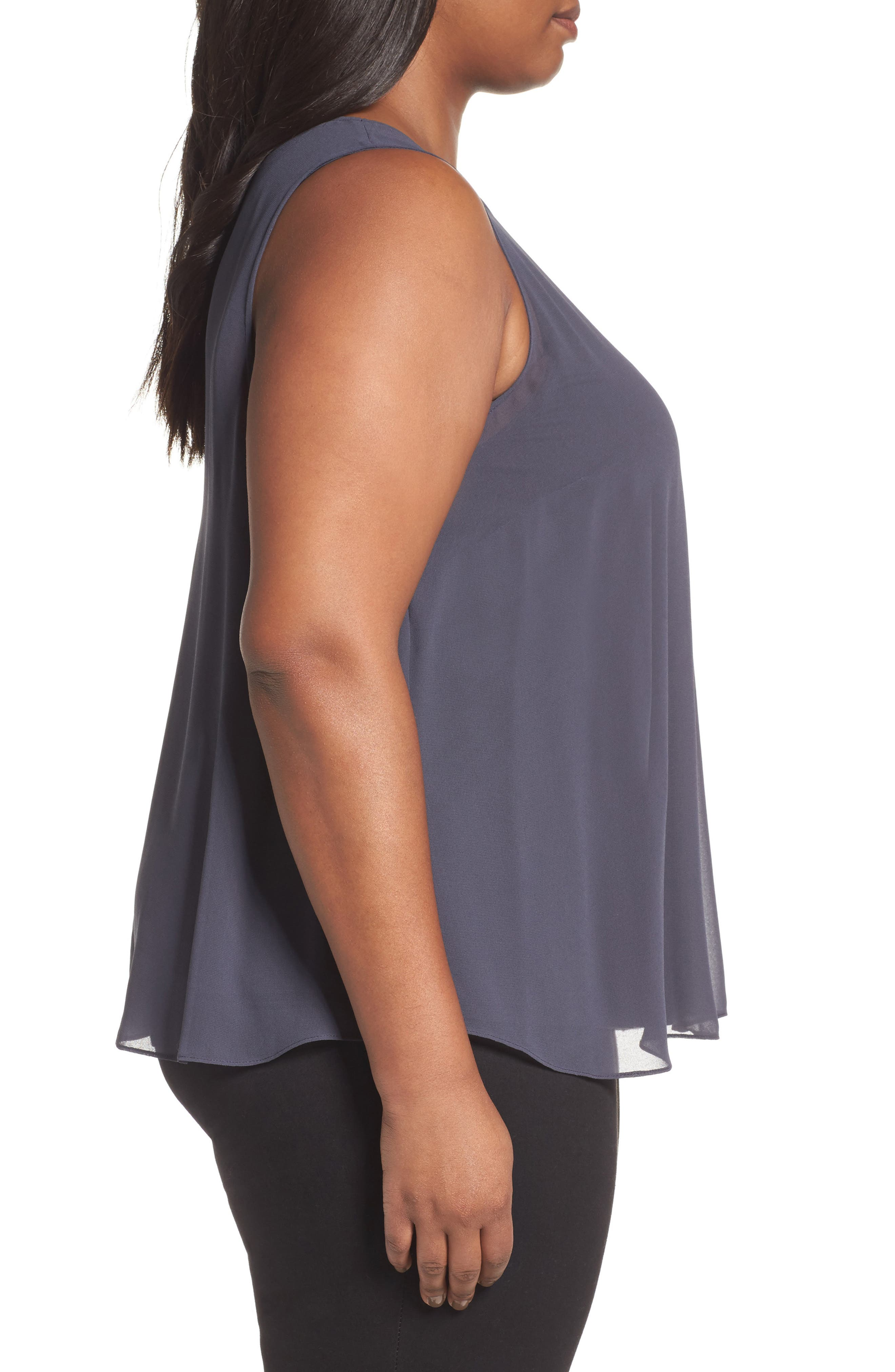 Alternate Image 3  - NIC+ZOE Sheer Collection Top (Plus Size)
