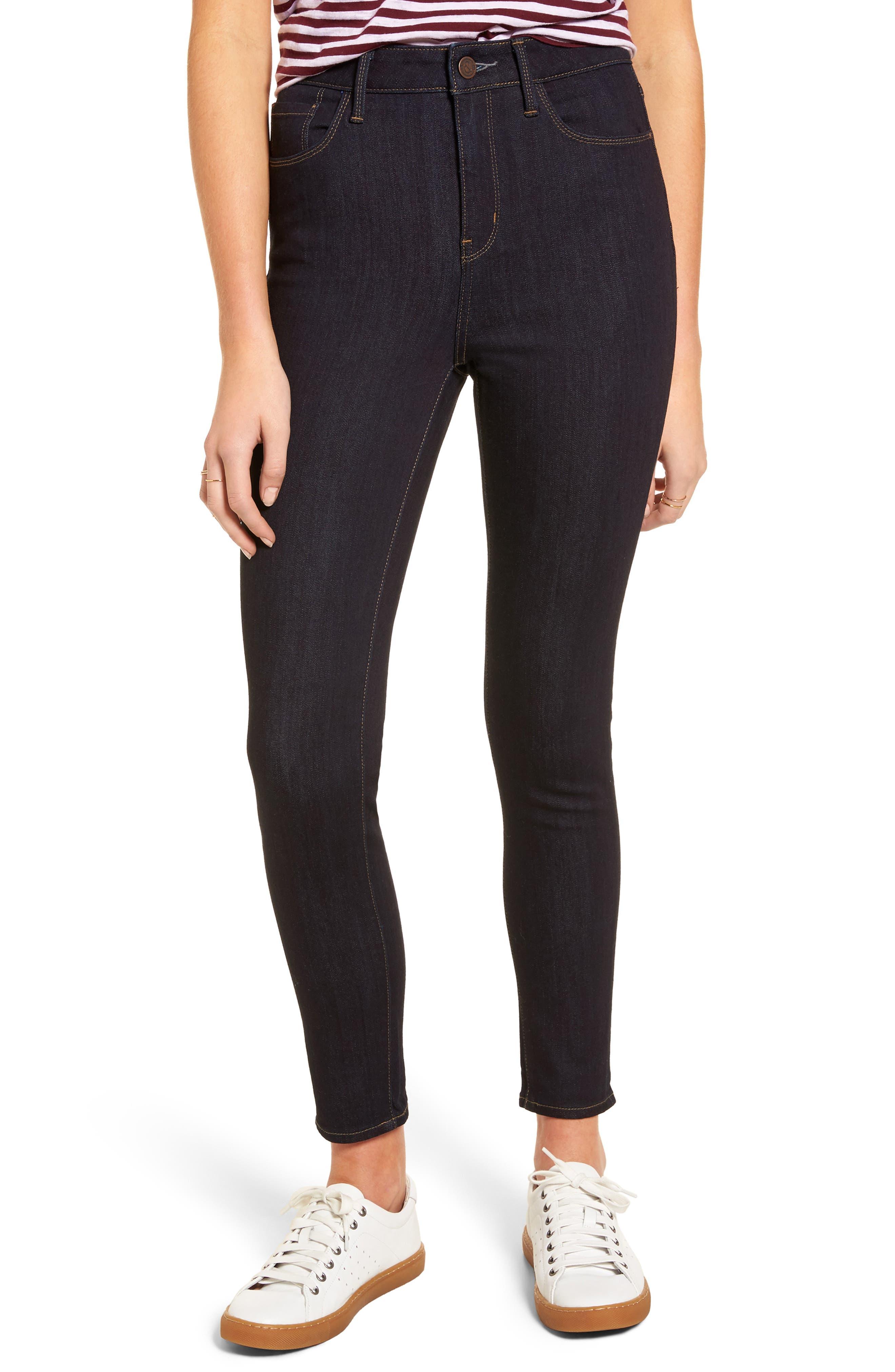 Treasure & Bond High Waist Ankle Skinny Jeans (Rinsed Indigo)