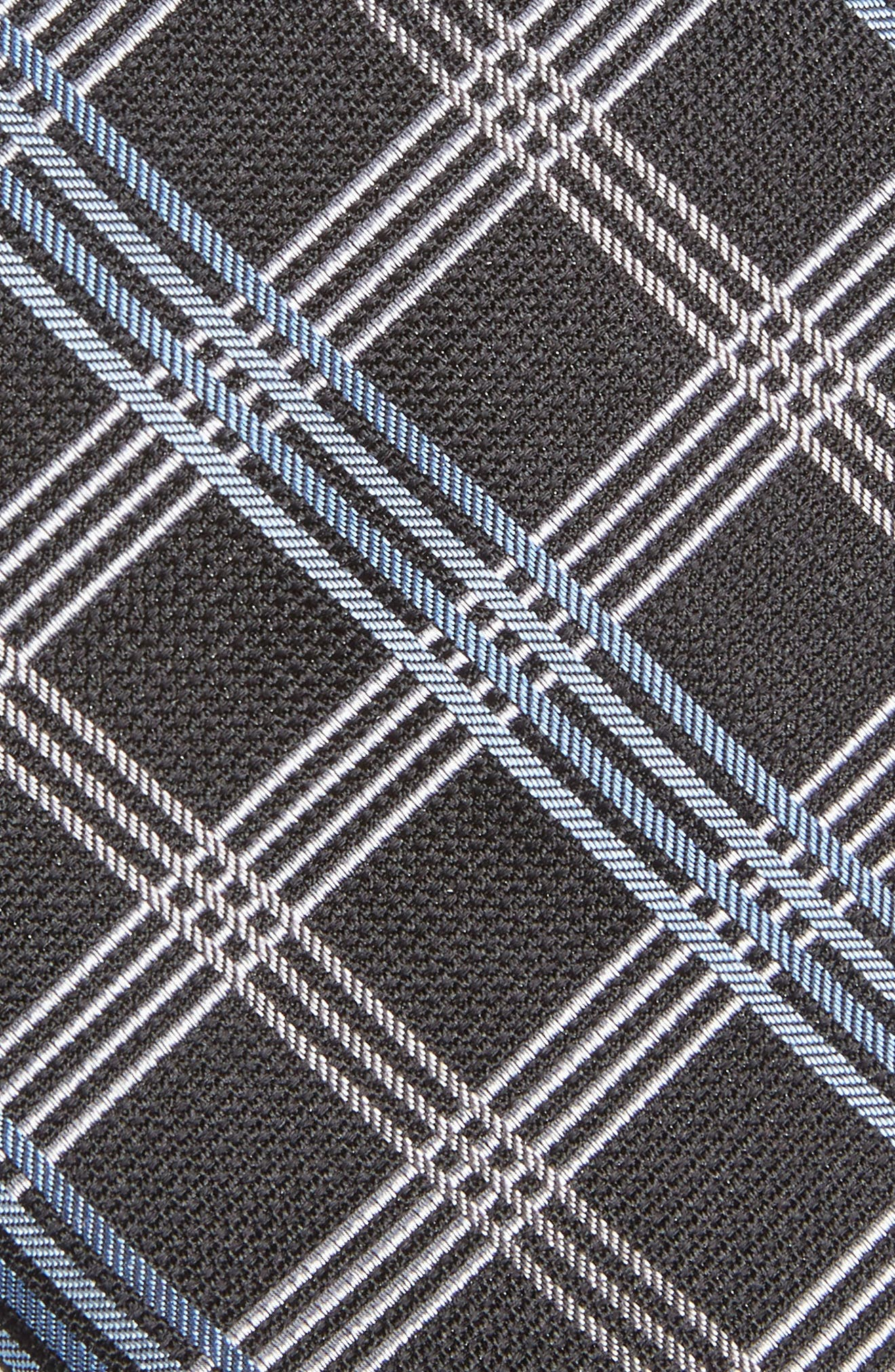 Plaid Silk Tie,                             Alternate thumbnail 2, color,                             Black