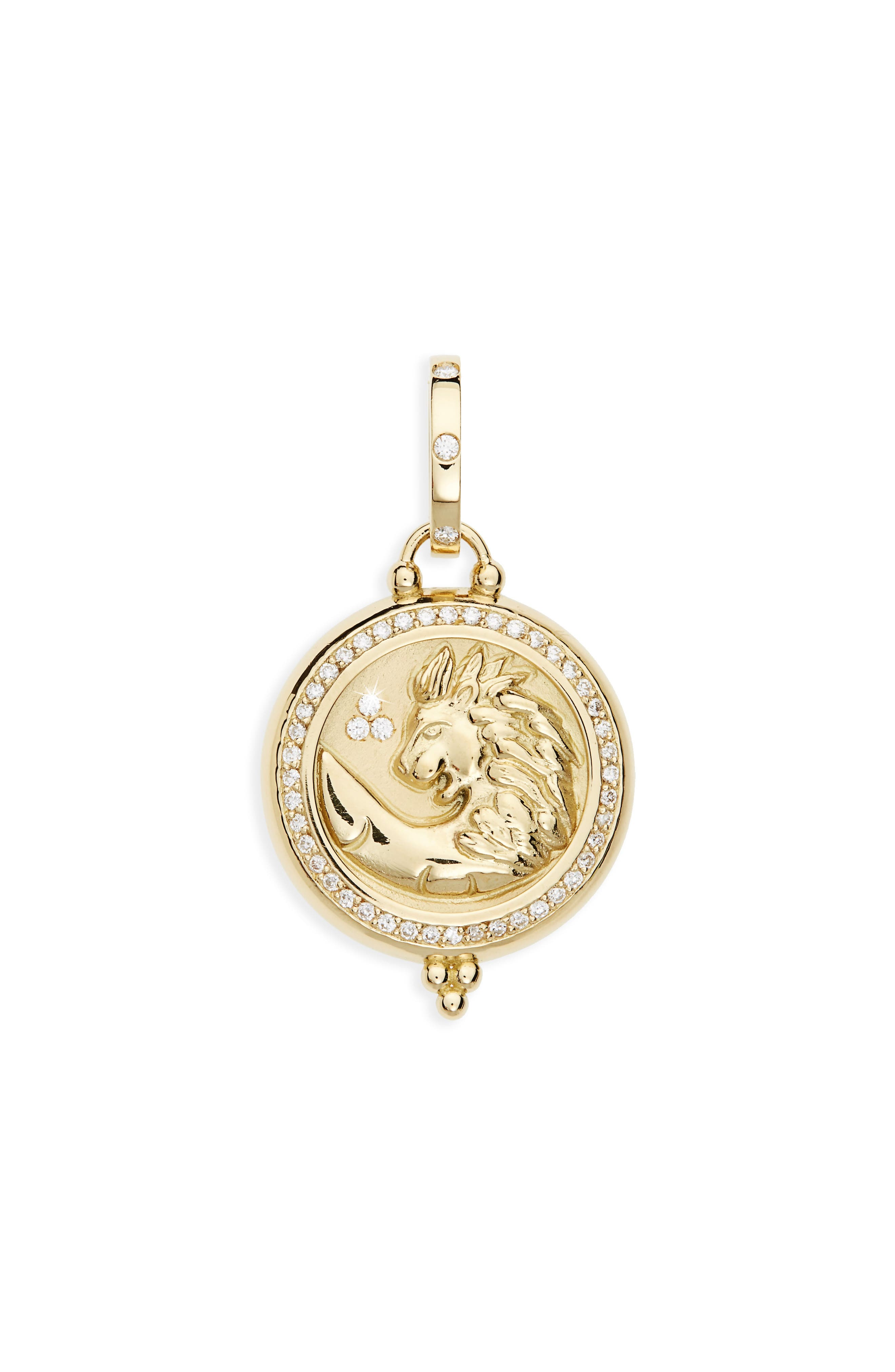 Temple St. Clair Charms Pendant,                         Main,                         color, Yellow Gold