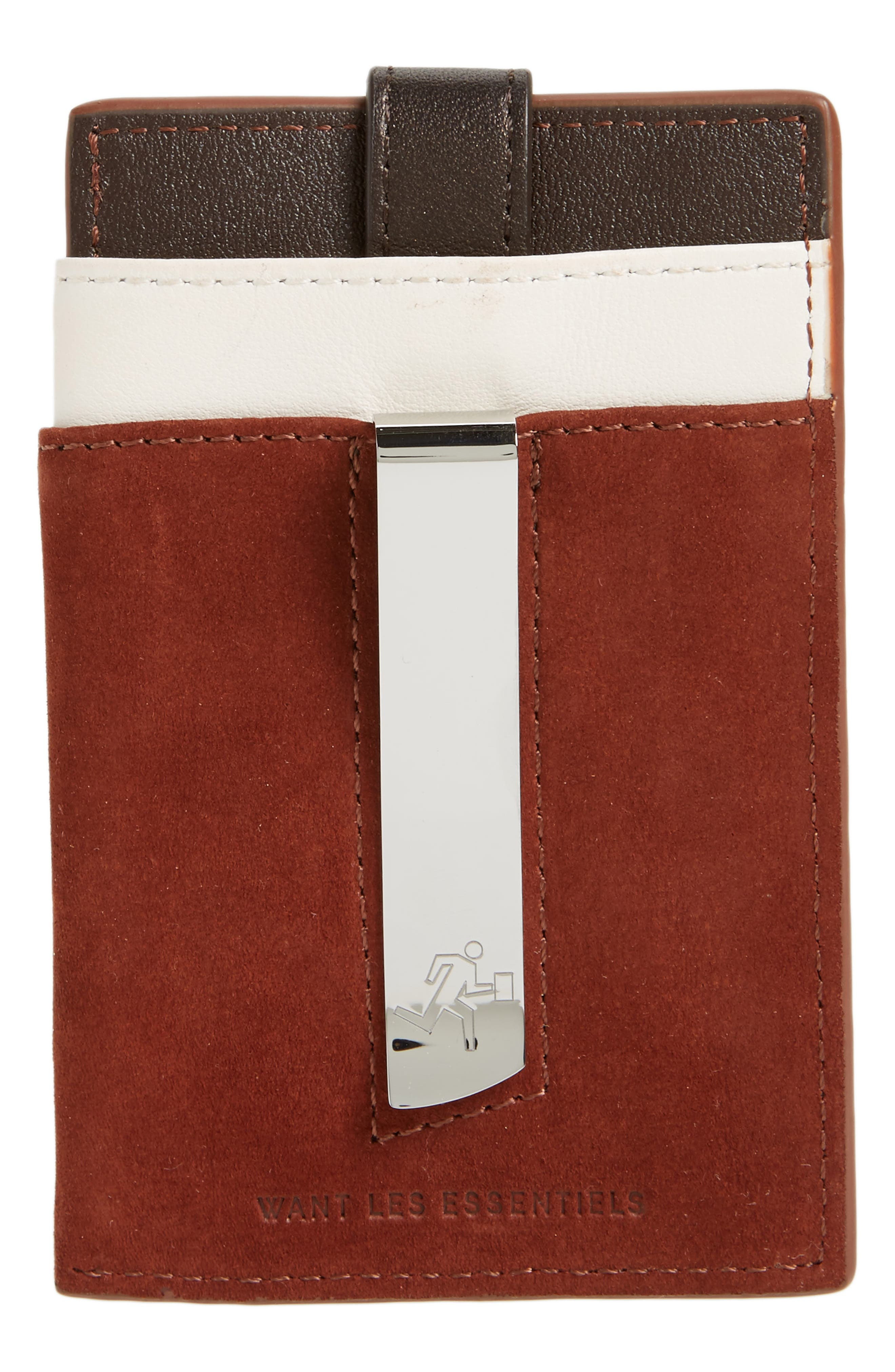Alternate Image 2  - WANT LES ESSENTIELS Kennedy Leather Money Clip Card Case
