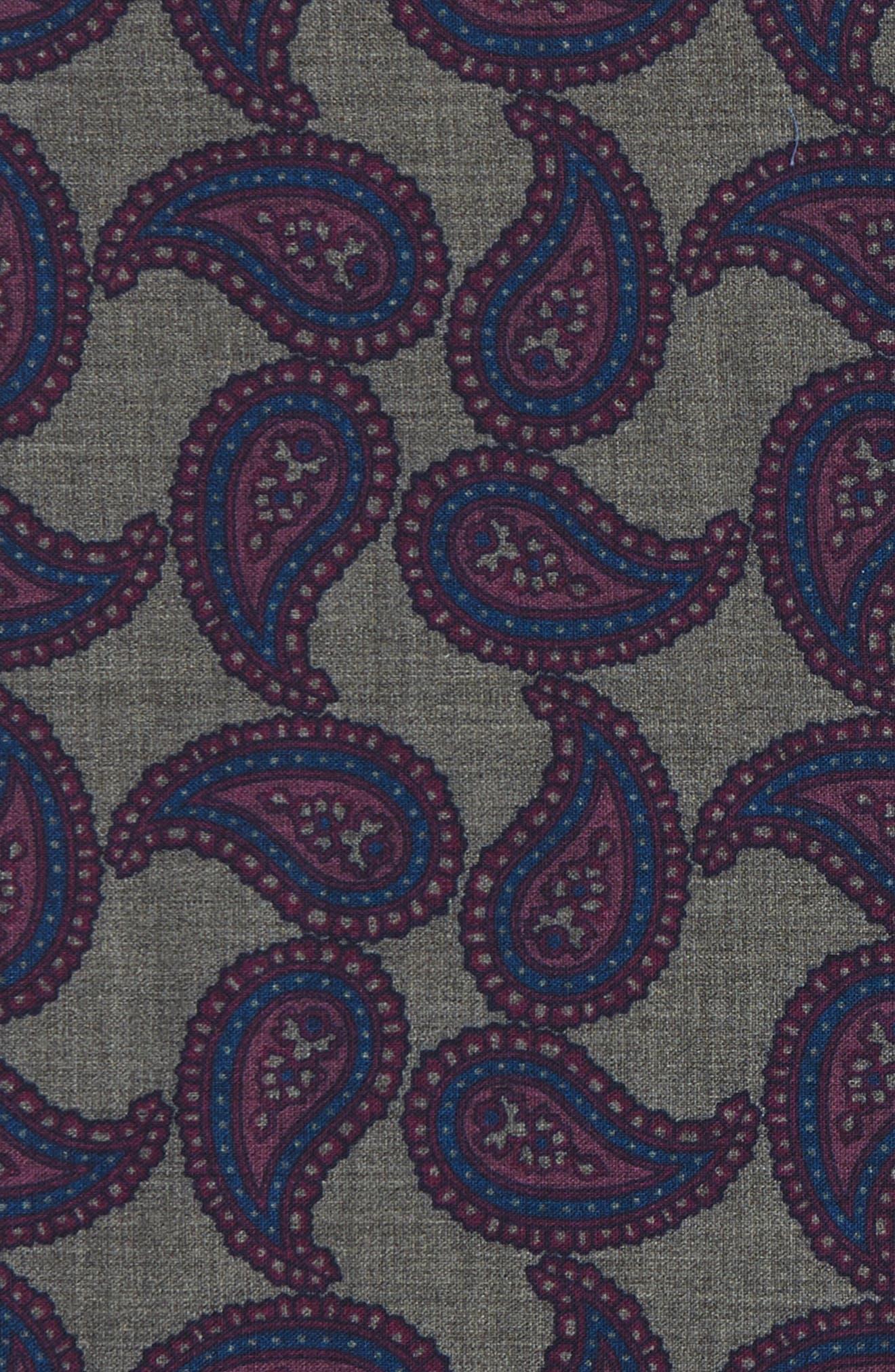 Alternate Image 3  - Ted Baker London Paisley Wool Pocket Square