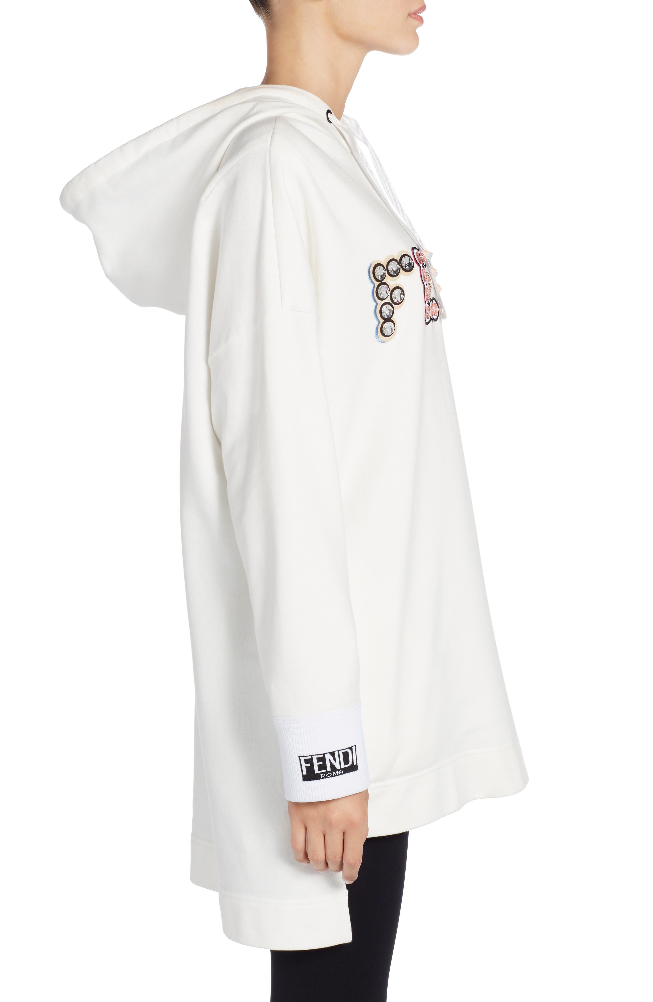 Alternate Image 3  - Fendi Studded Logo Sweatshirt