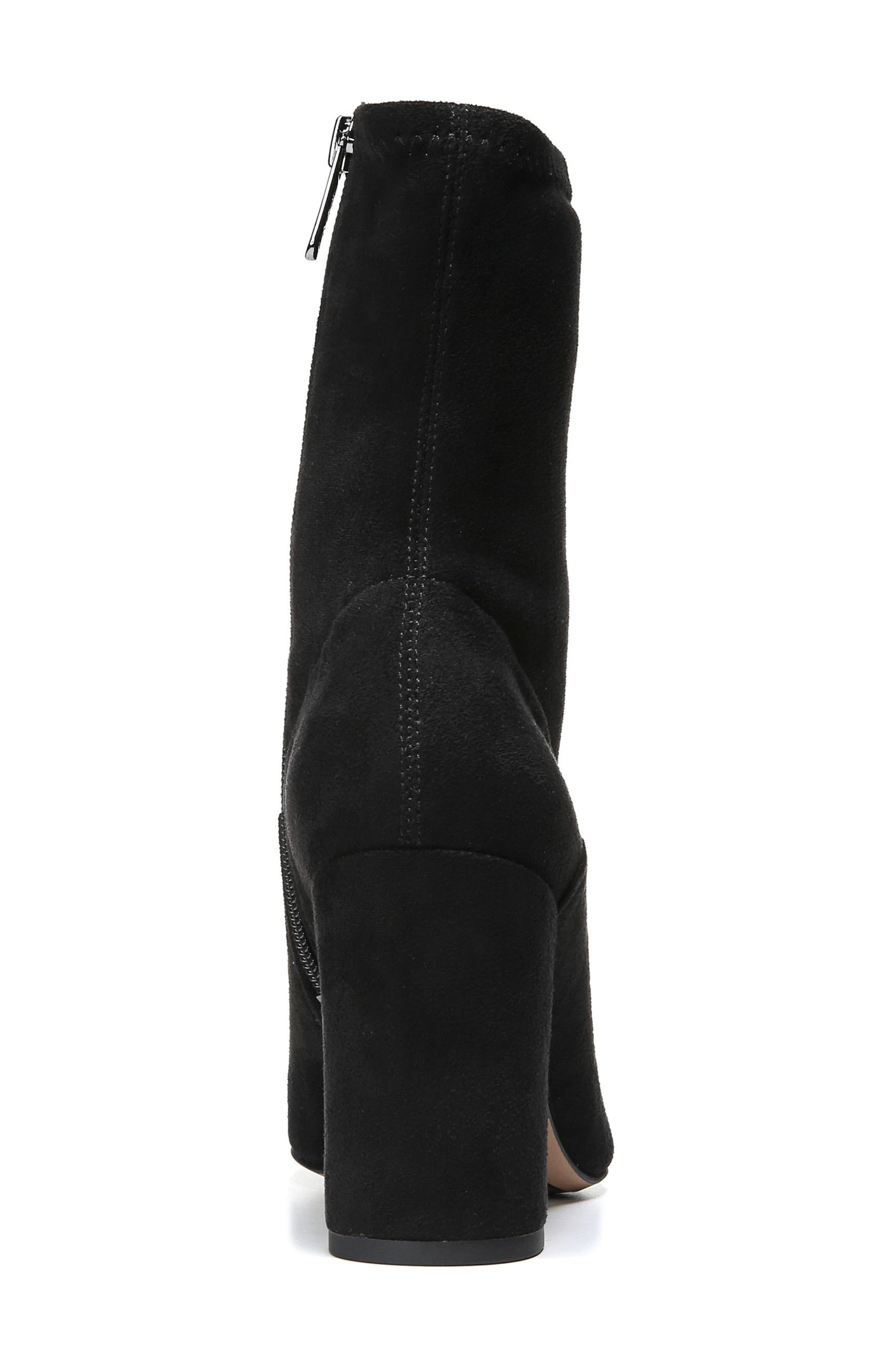 Fancy Boot,                             Alternate thumbnail 4, color,                             Black Suede