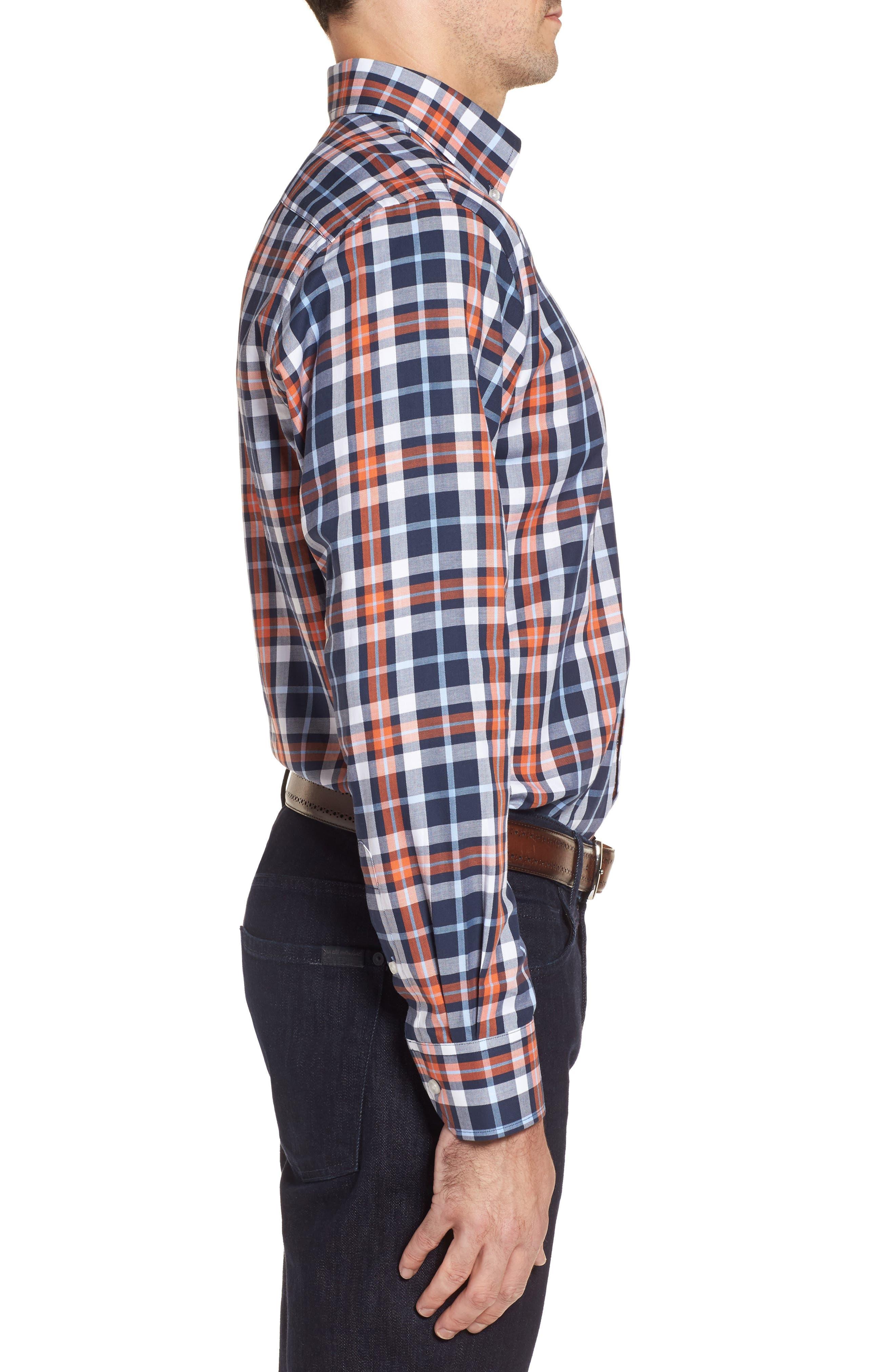 Alternate Image 3  - TailorByrd Chatham Regular Fit Plaid Sport Shirt