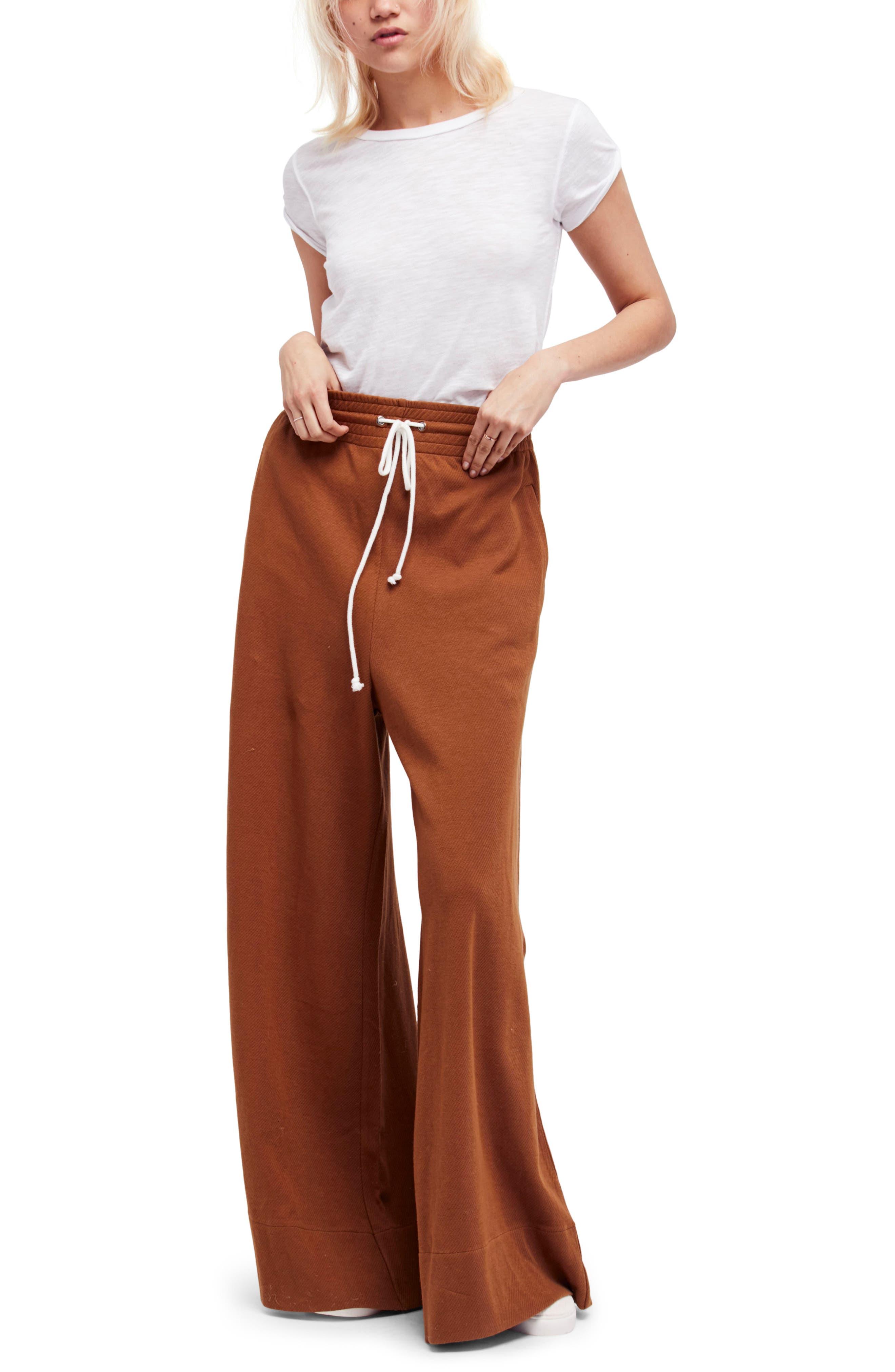Strangelove Flare Sweatpants,                         Main,                         color, Brown