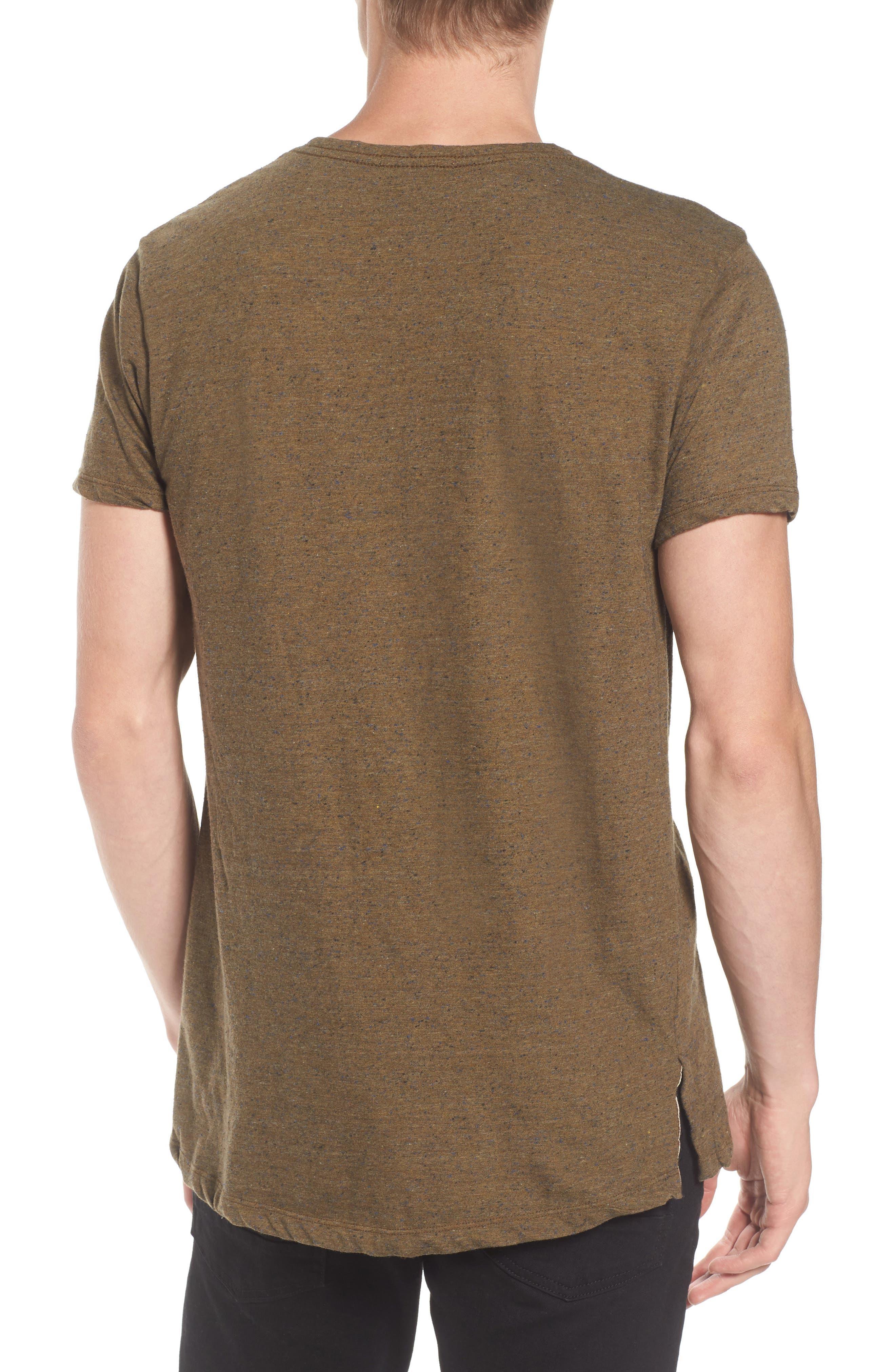Mélange Jersey T-Shirt,                             Alternate thumbnail 2, color,                             Green