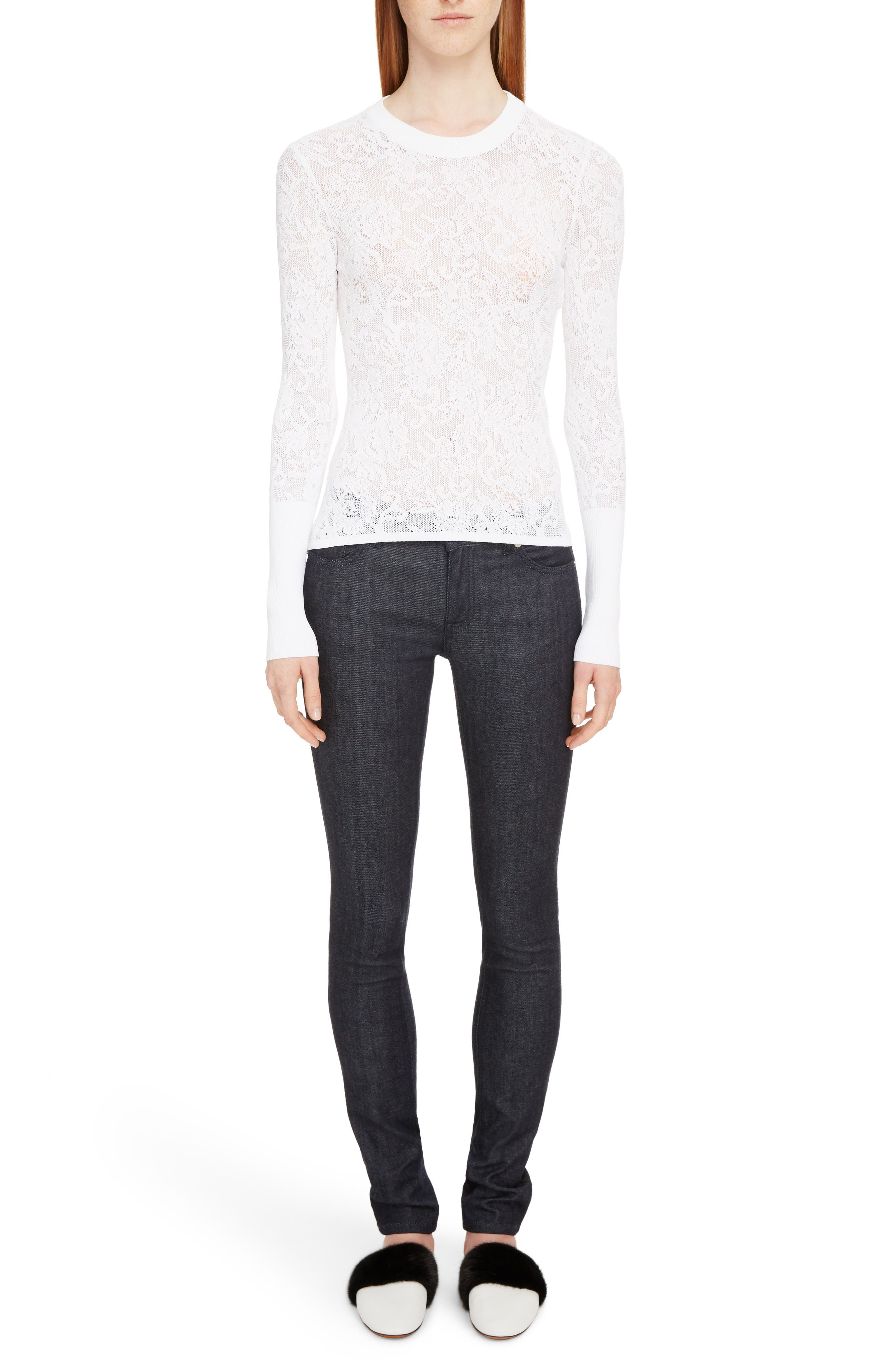 Alternate Image 6  - Givenchy Lace Effect Pullover