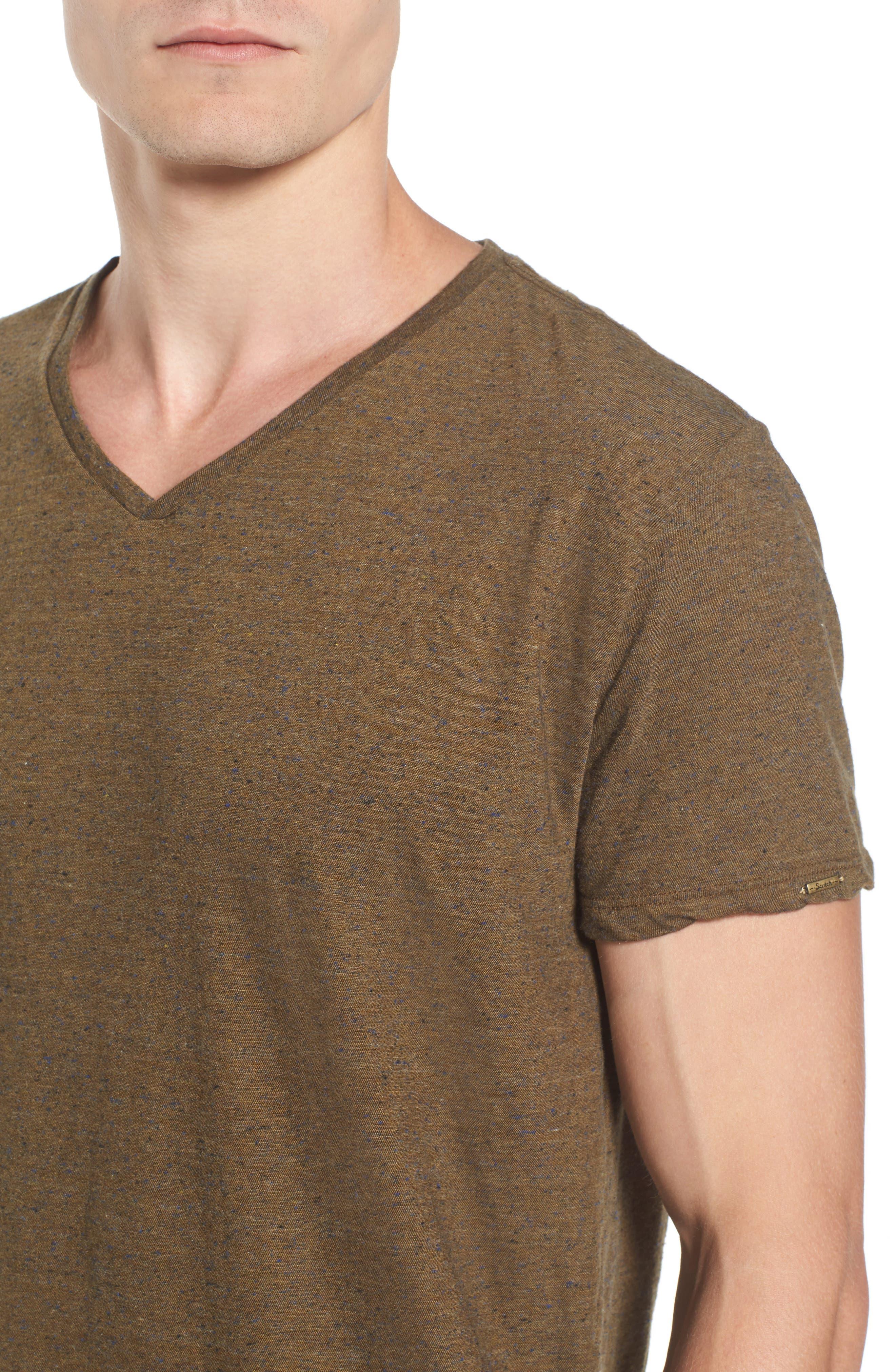 Mélange Jersey T-Shirt,                             Alternate thumbnail 4, color,                             Green