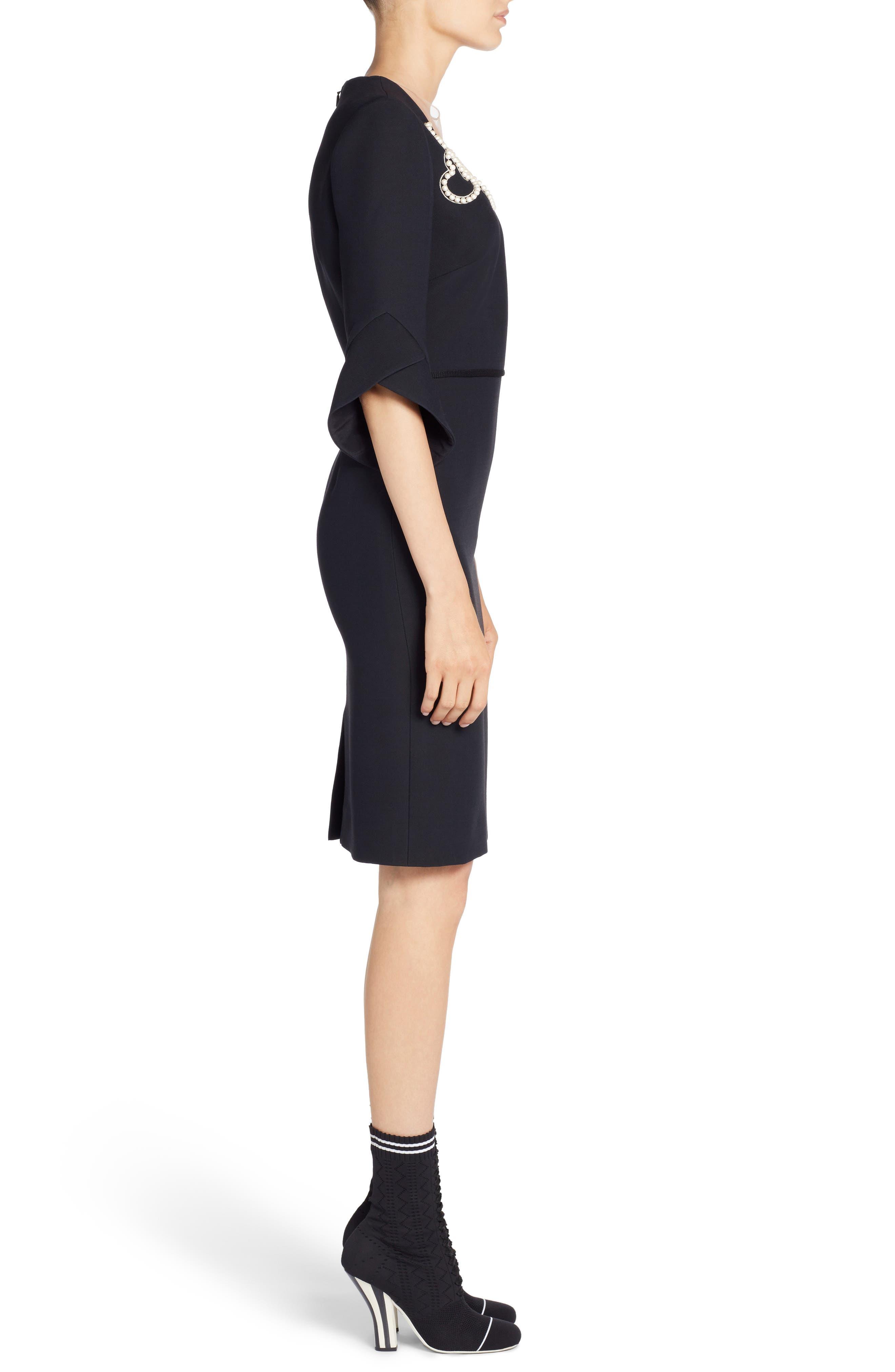 Alternate Image 4  - Fendi Embellished Wool & Silk Gazar Dress