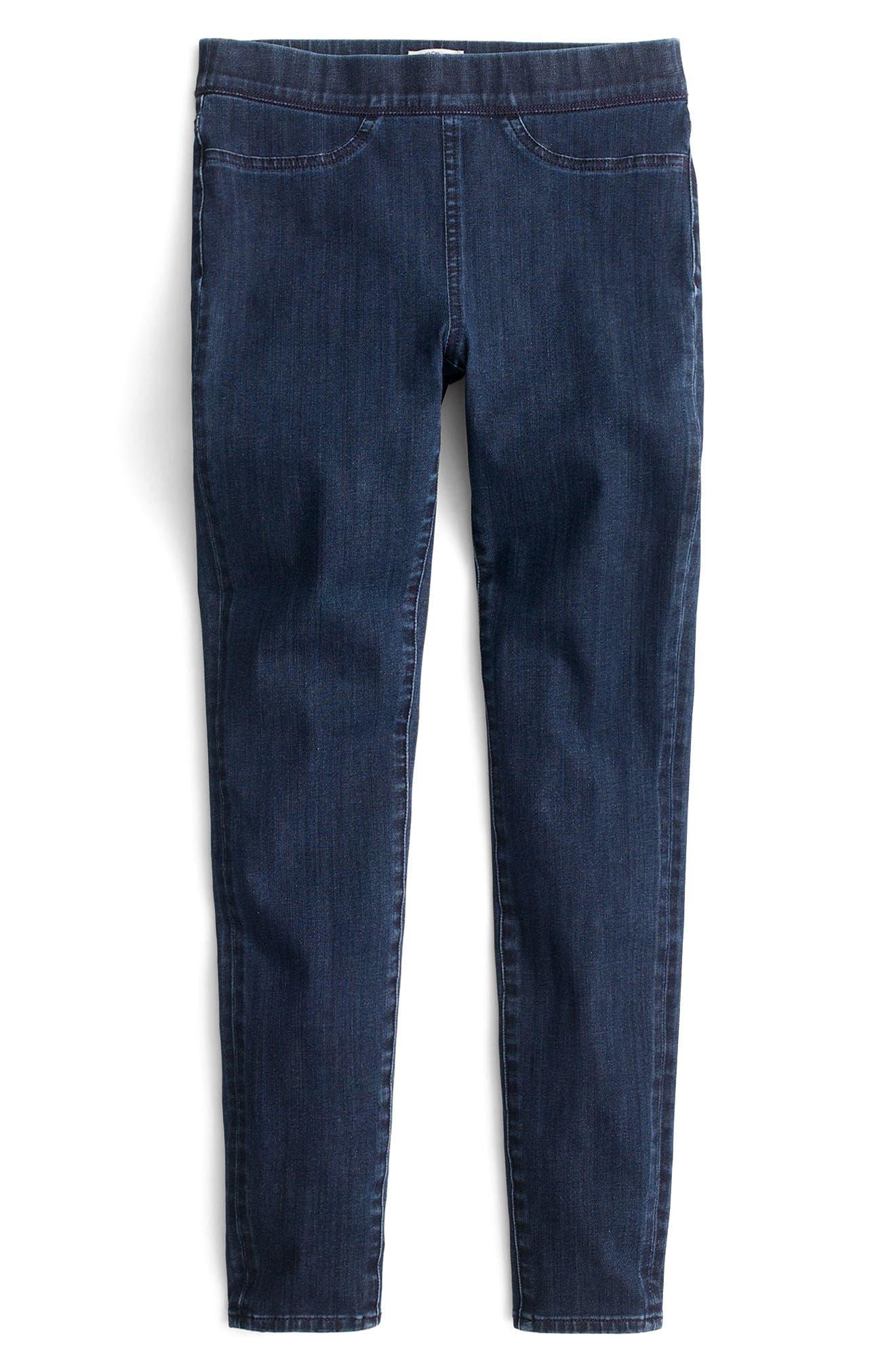 Alternate Image 3  - J.Crew Pull-On Toothpick Indigo Jeans (Regular & Petite)
