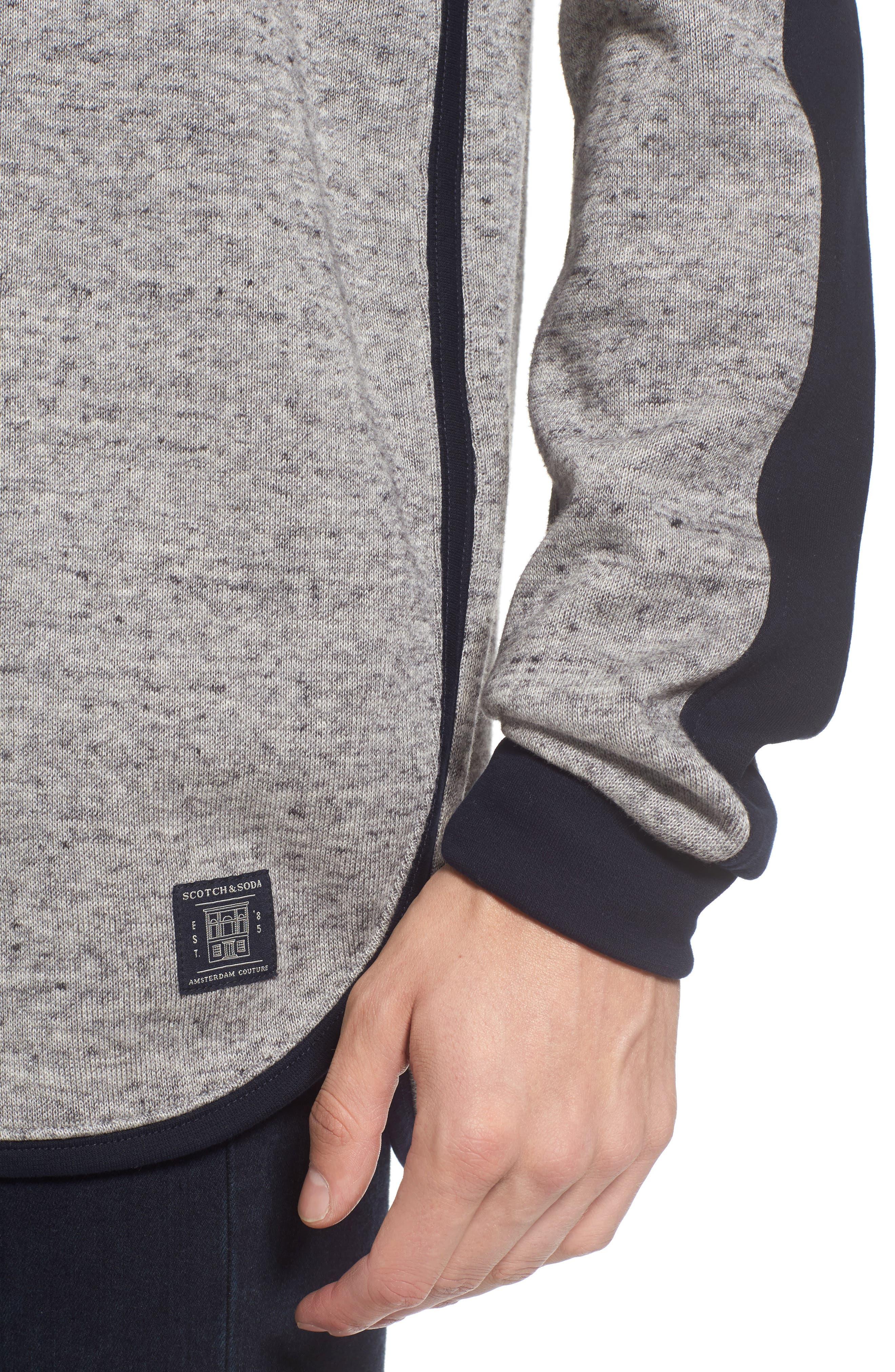 Panel Sweatshirt,                             Alternate thumbnail 4, color,                             Grey