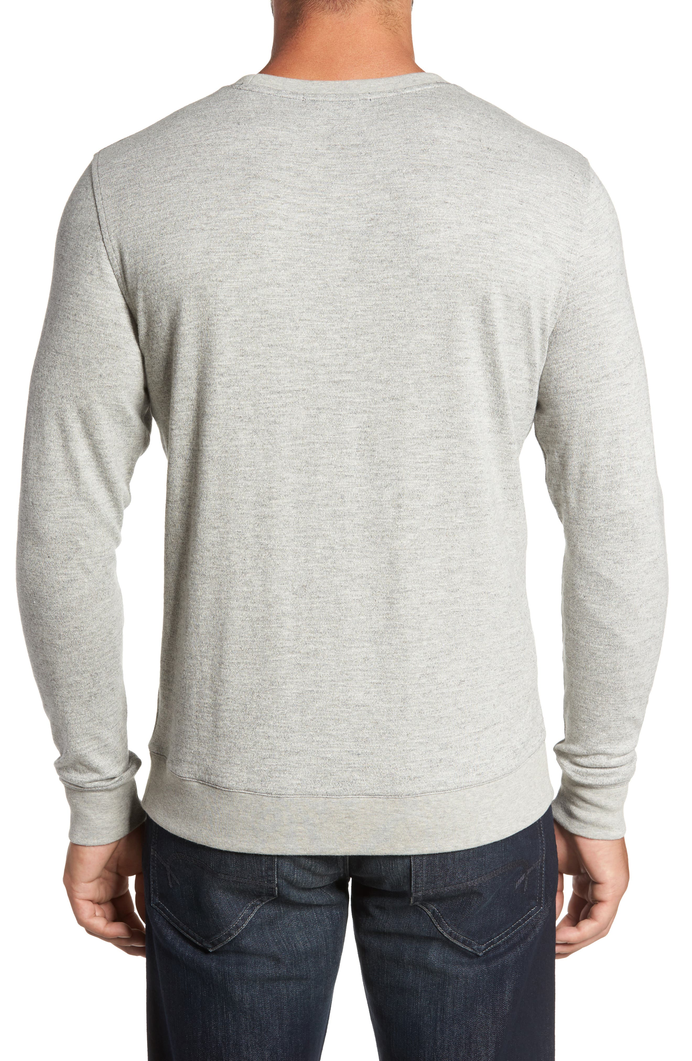 Vienna French Terry T-Shirt,                             Alternate thumbnail 2, color,                             Light Grey