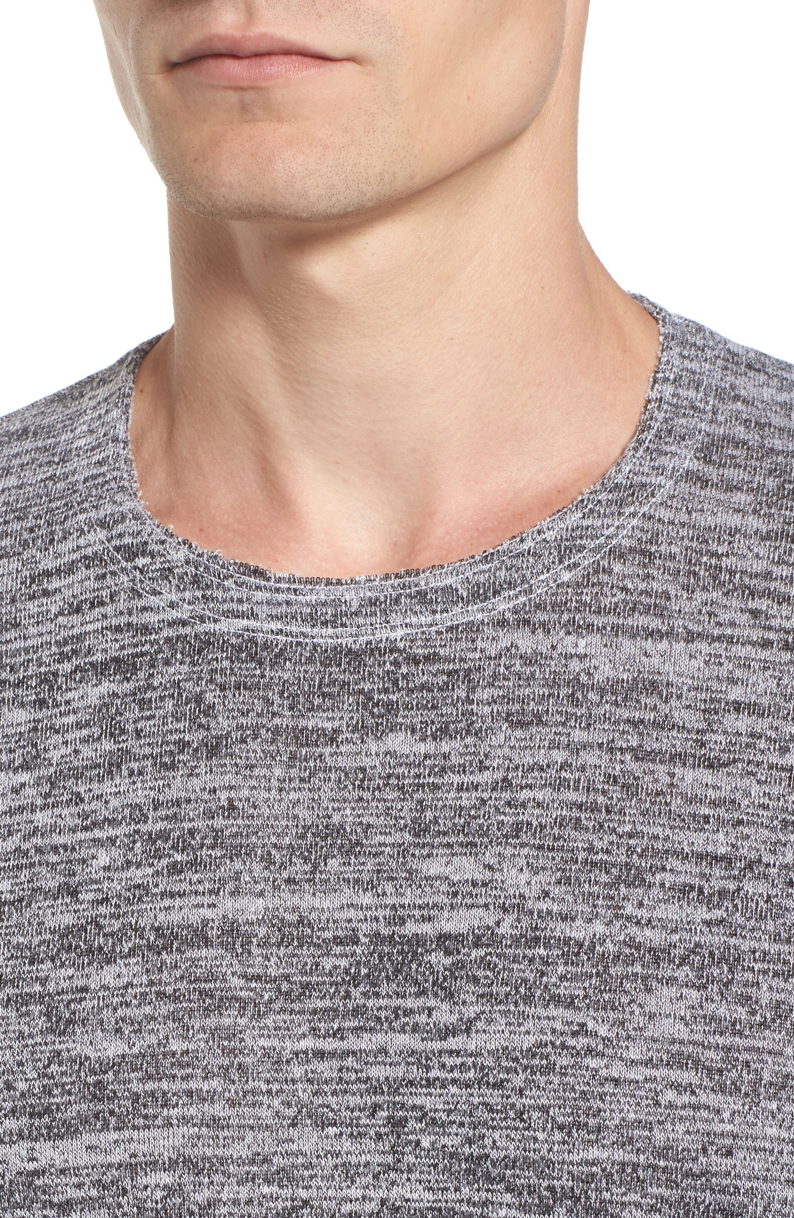 Alternate Image 4  - Velvet by Graham & Spencer Modern Trim Marled Long Sleeve T-Shirt