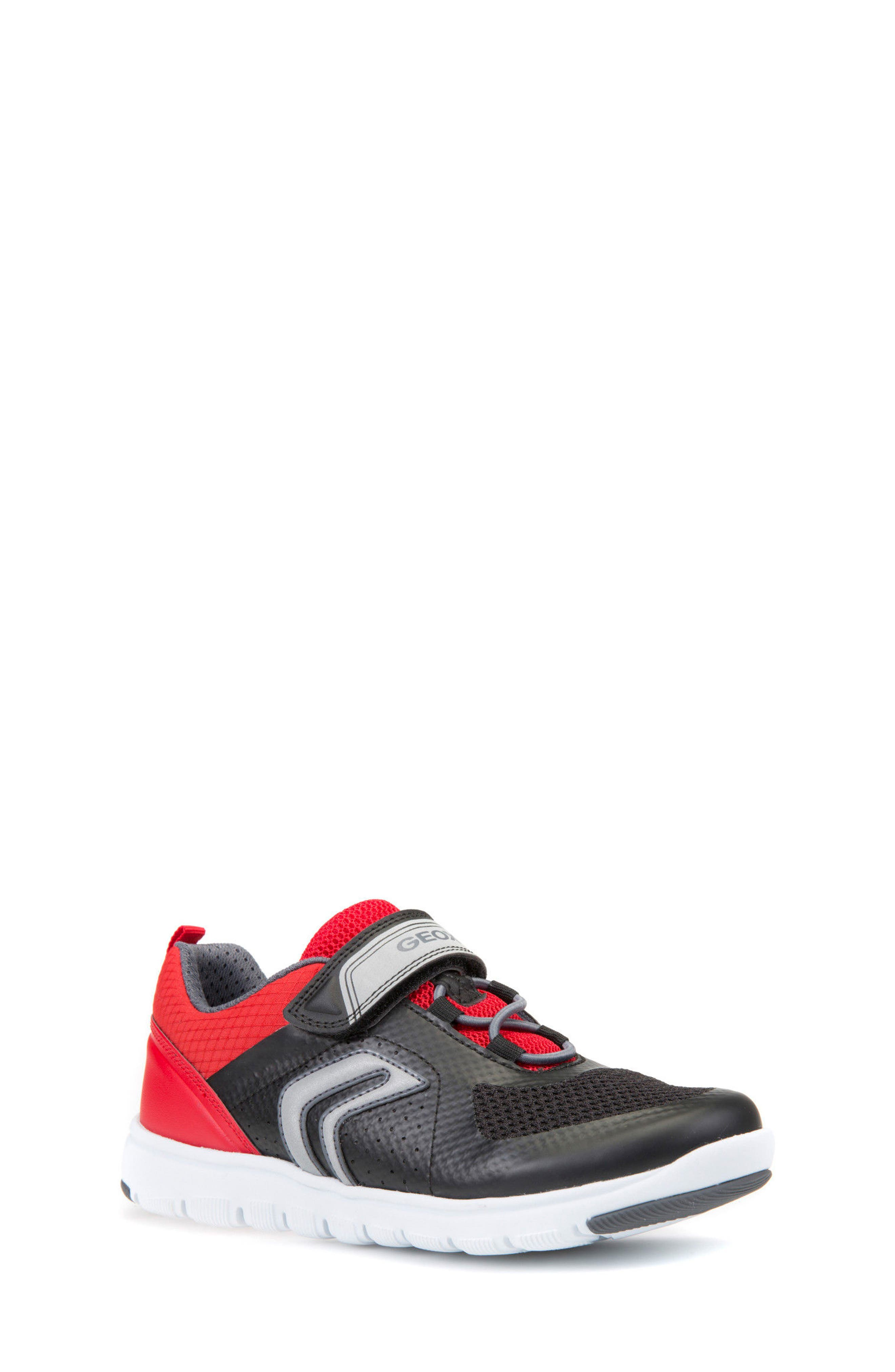 Xunday Low Top Sneaker,                         Main,                         color, Black/ Red