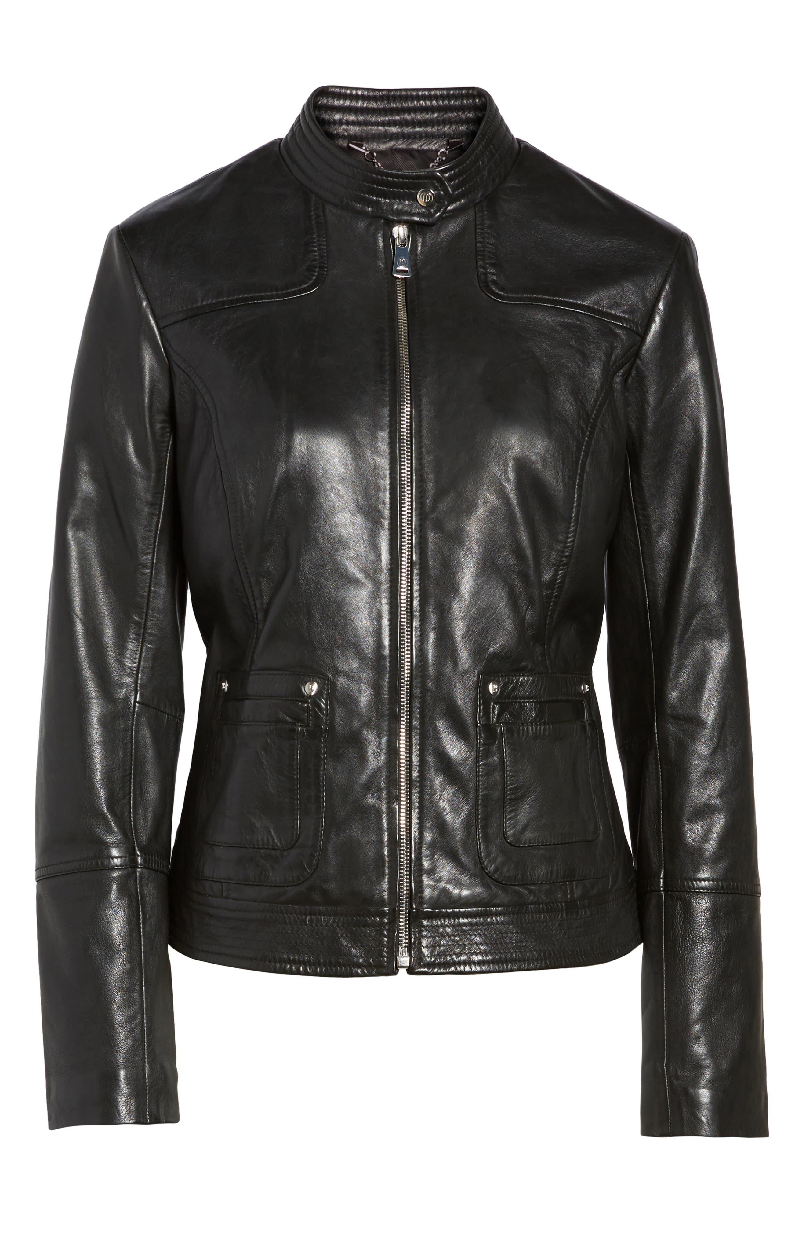 Alternate Image 6  - Bernardo Leather Moto Jacket