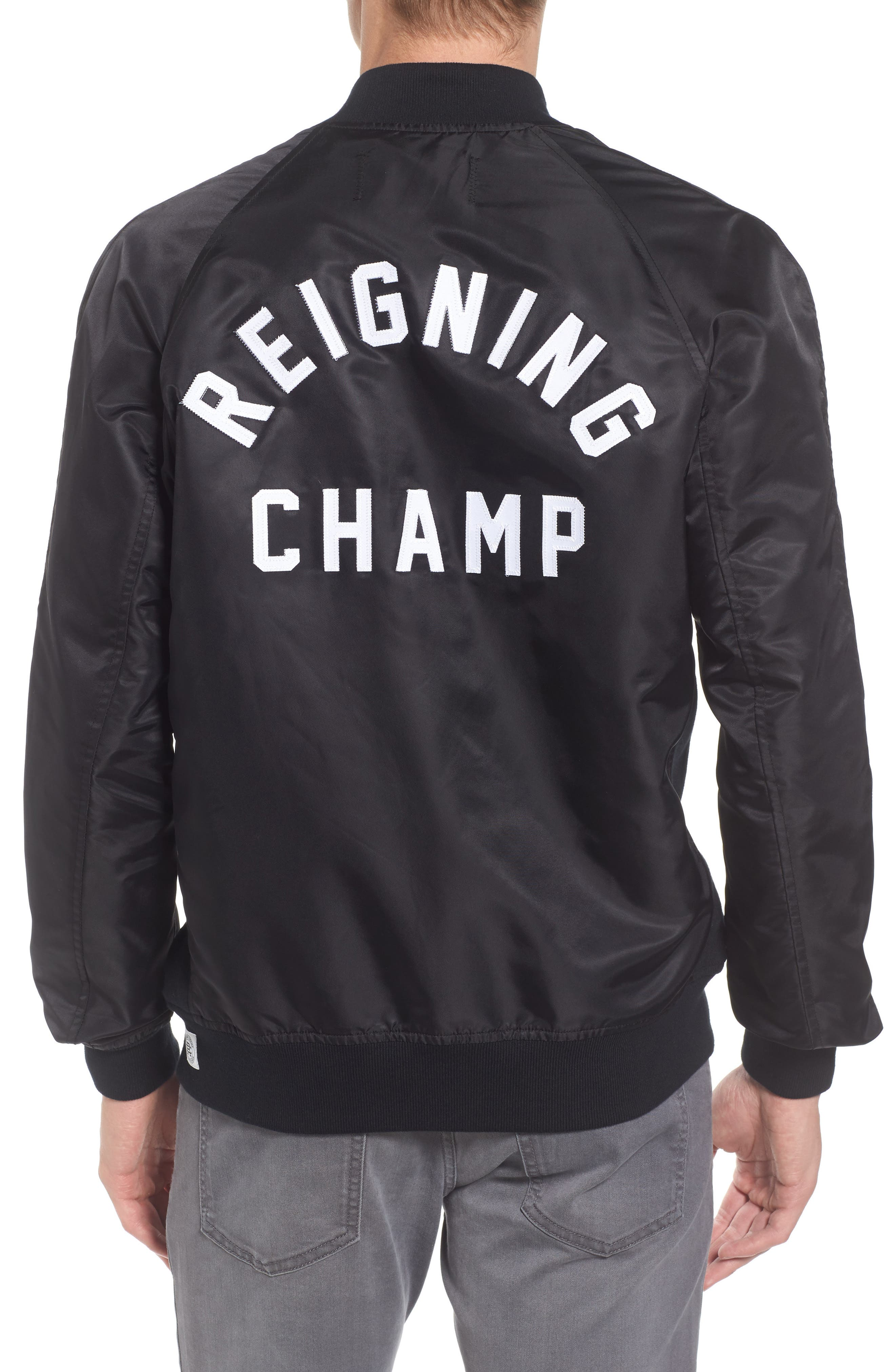 Alternate Image 2  - Reigning Champ Logo Stadium Jacket