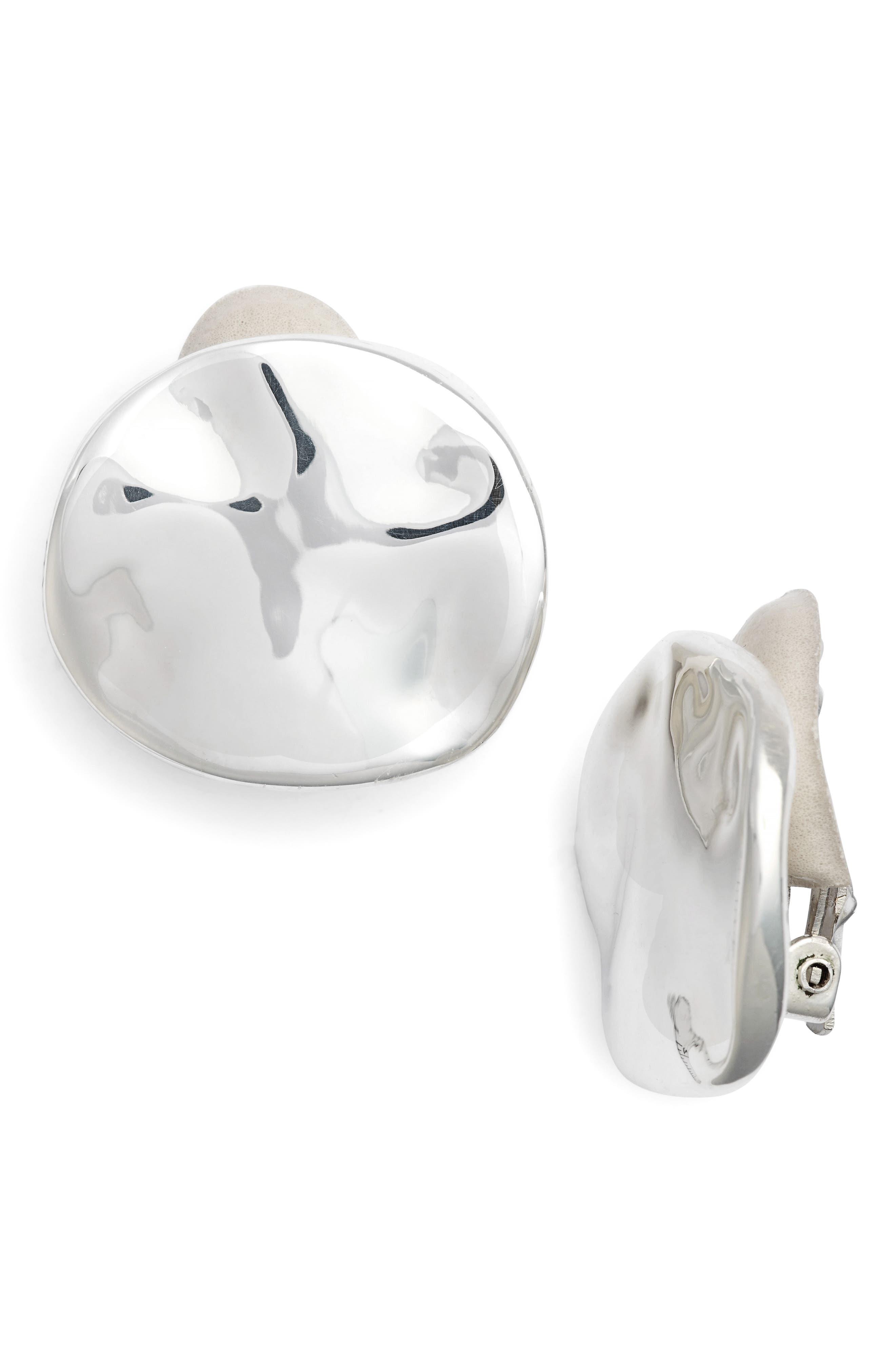 Simone Sebbag Clip Stud Earrings,                         Main,                         color, Silver