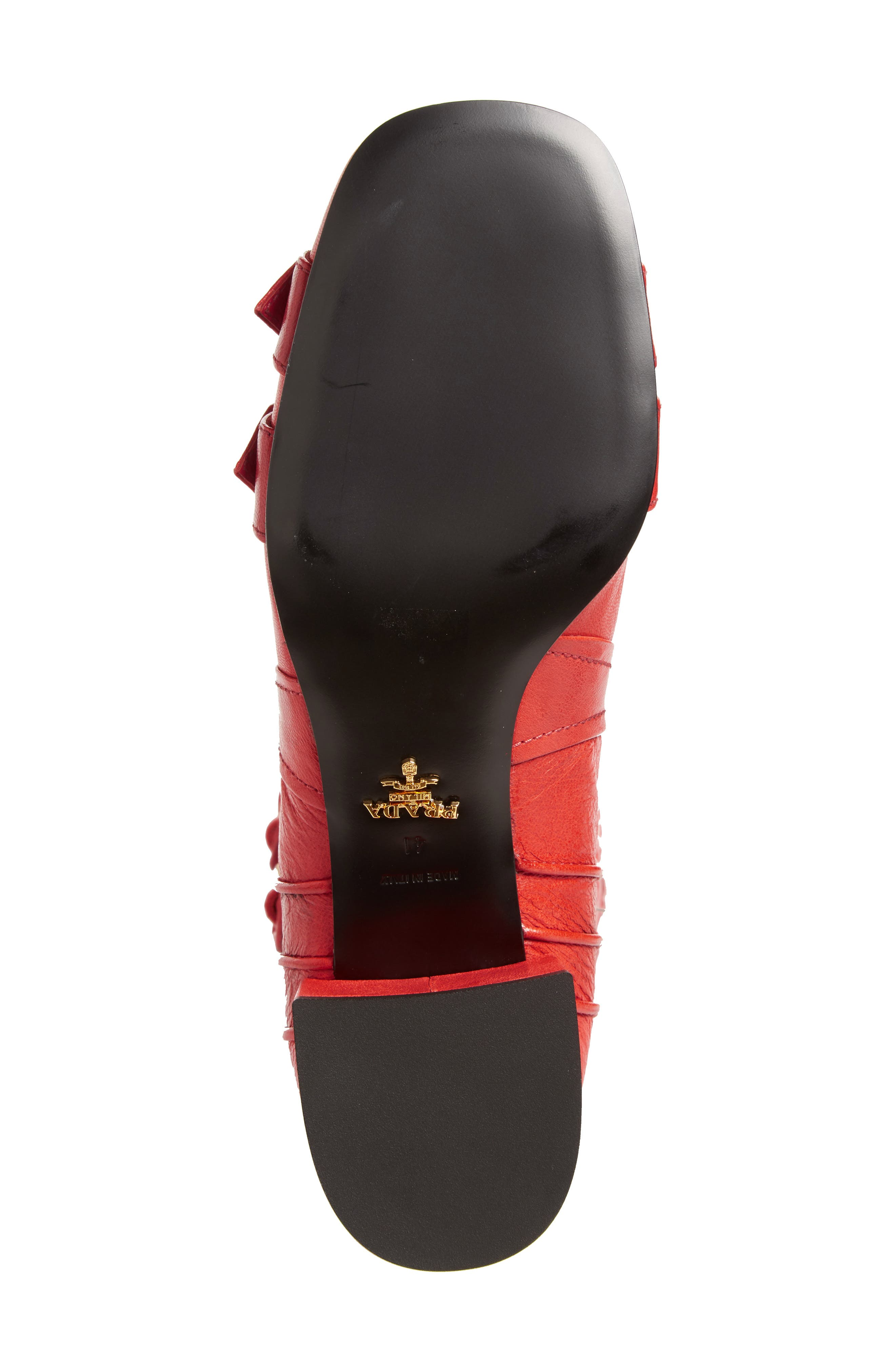 Over the Knee Boot,                             Alternate thumbnail 5, color,                             Red Leather