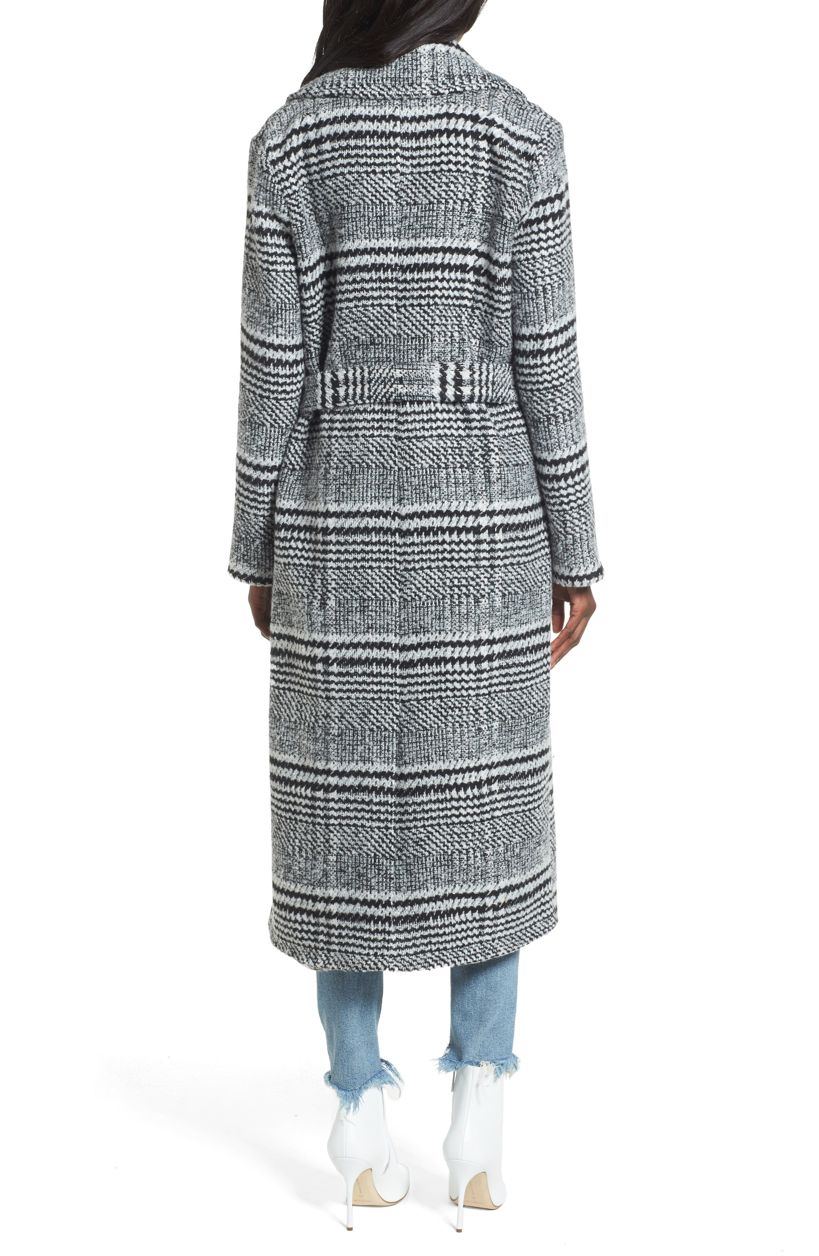 Alternate Image 2  - Lovers + Friends Sabra Longline Plaid Coat