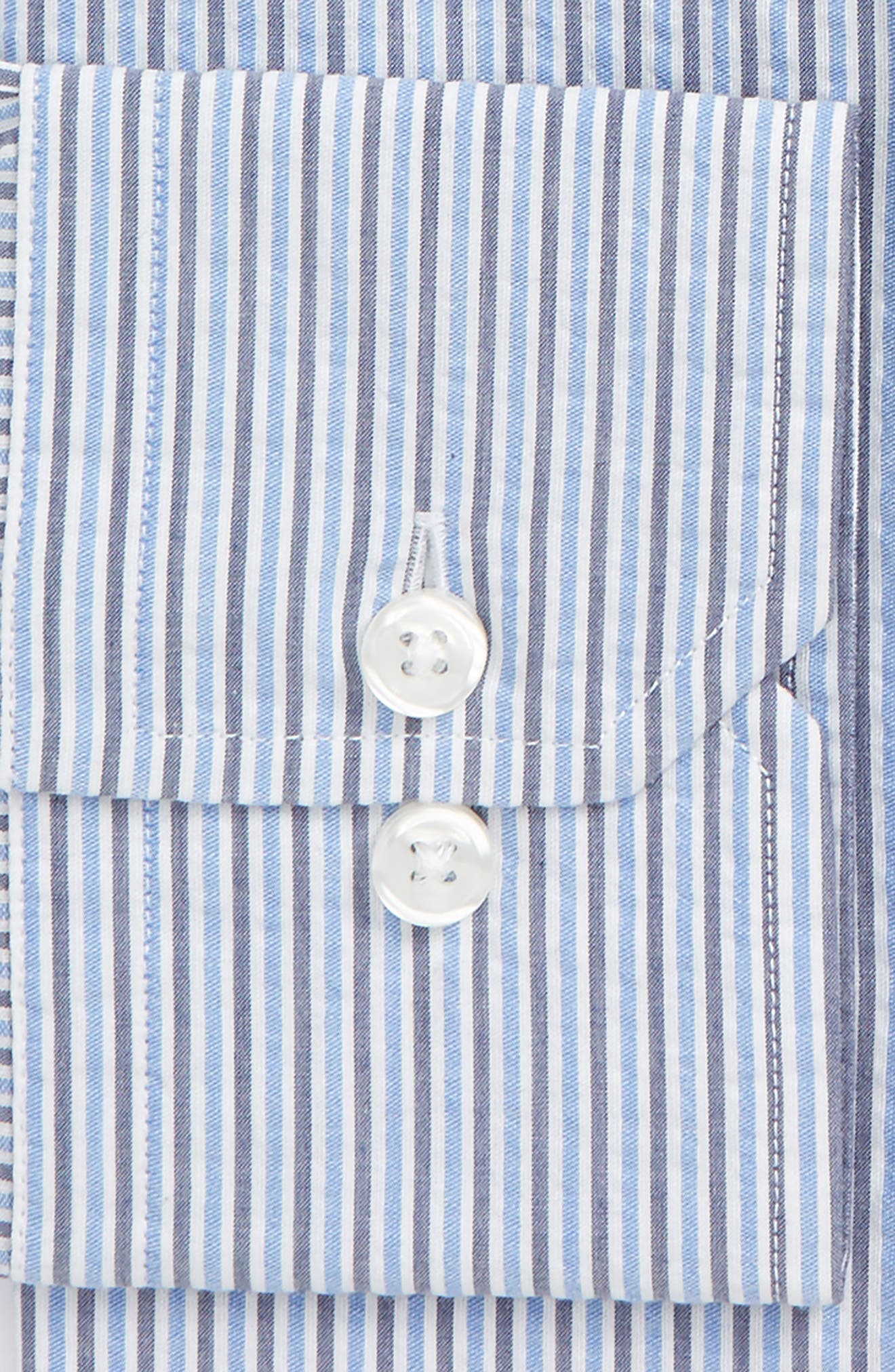 Extra Trim Fit Stripe Dress Shirt,                             Alternate thumbnail 2, color,                             Blue/ Grey