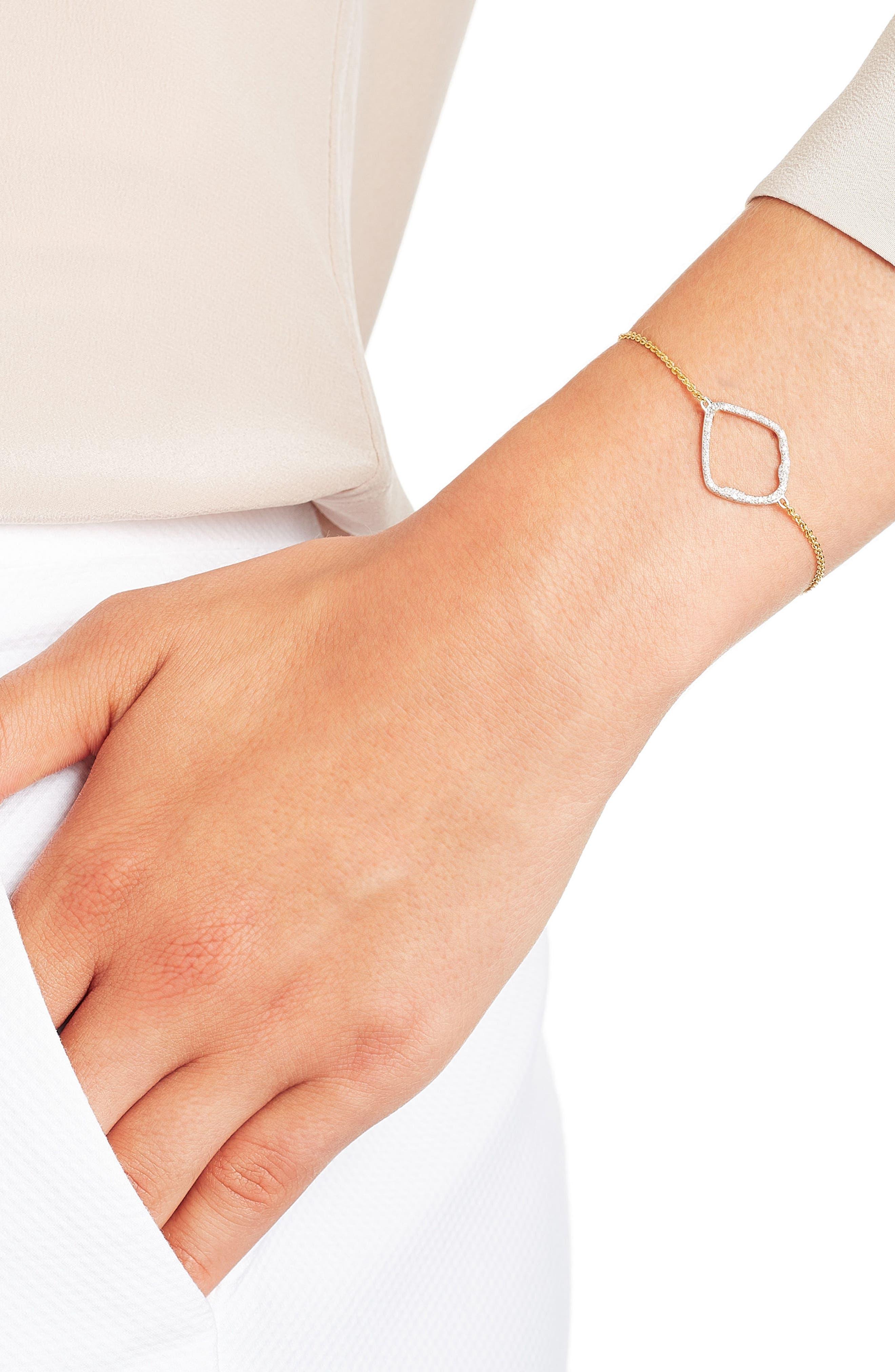 Alternate Image 2  - Monica Vinader Riva Large Hoop Diamond Bracelet