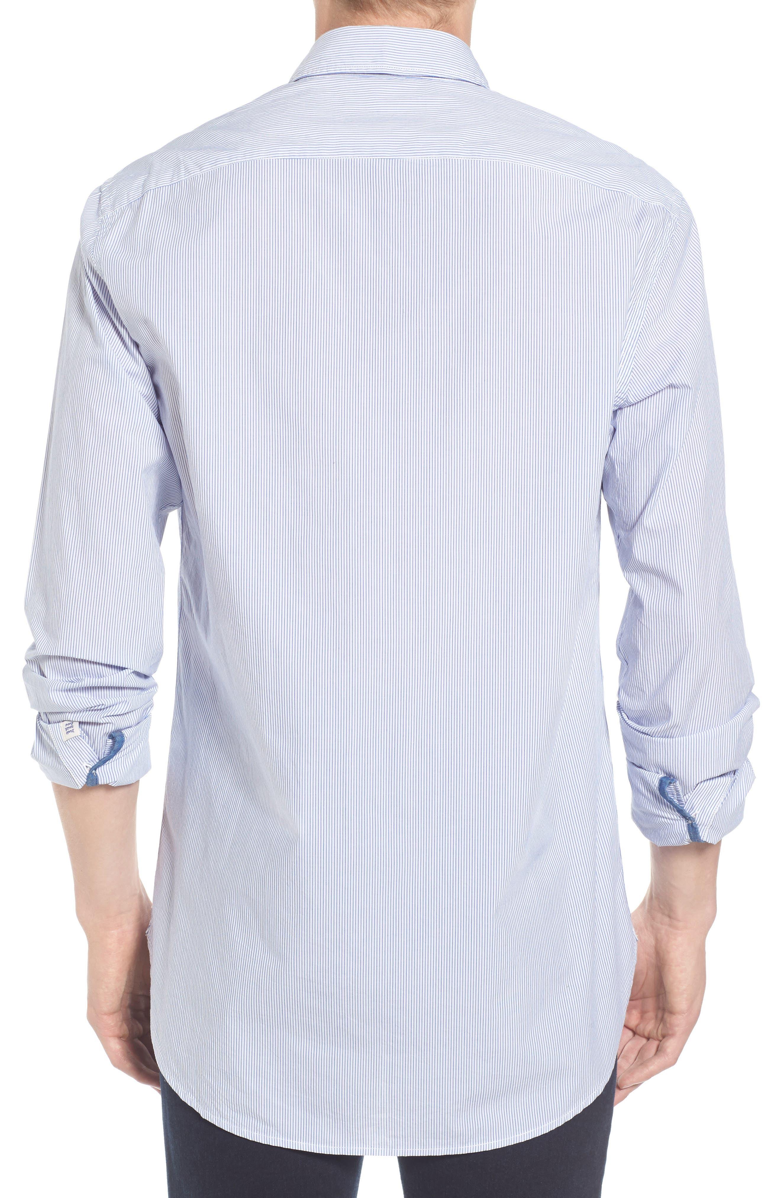 Alternate Image 2  - Scotch & Soda Woven Stripe Shirt