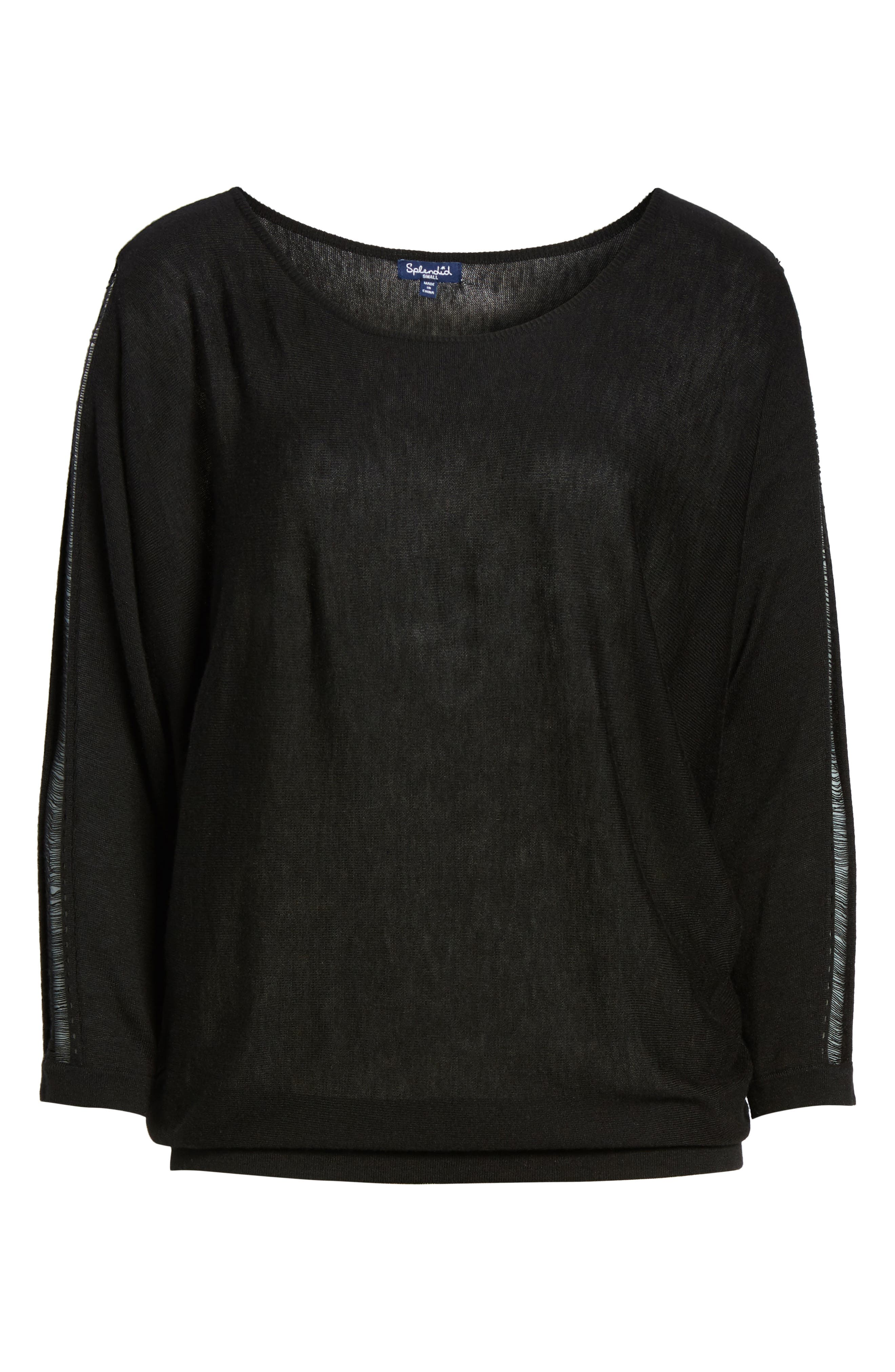 Whitlock Sweater,                             Alternate thumbnail 6, color,                             Black