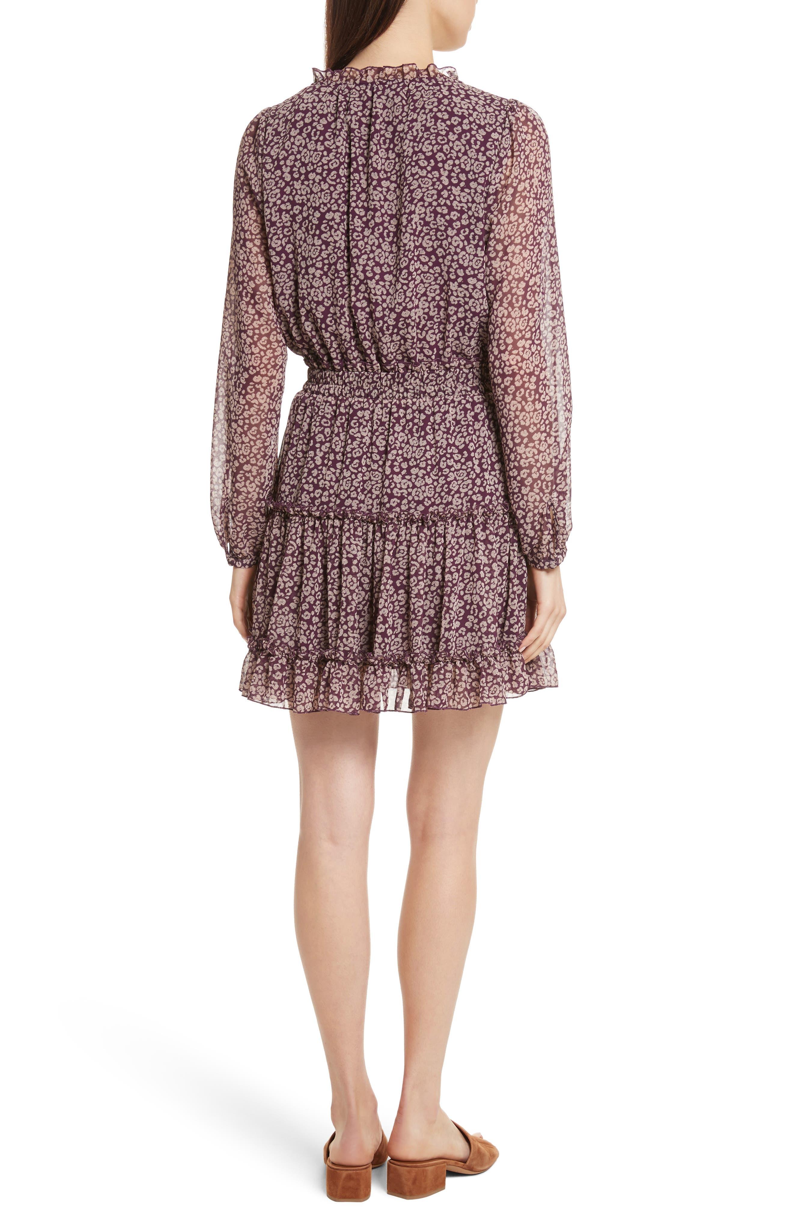 Rosemary A-Line Dress,                             Alternate thumbnail 2, color,                             Potent Purple Leopard
