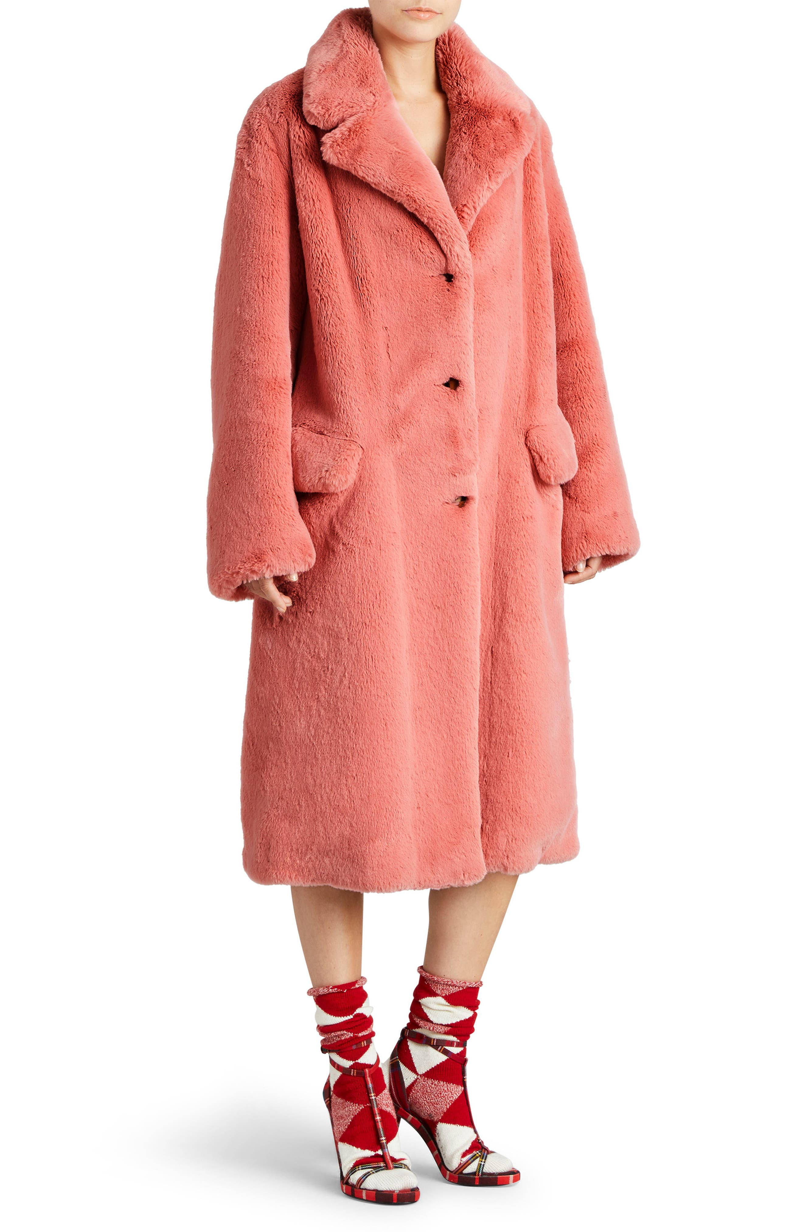 Alternate Image 3  - Burberry Faux Fur Coat