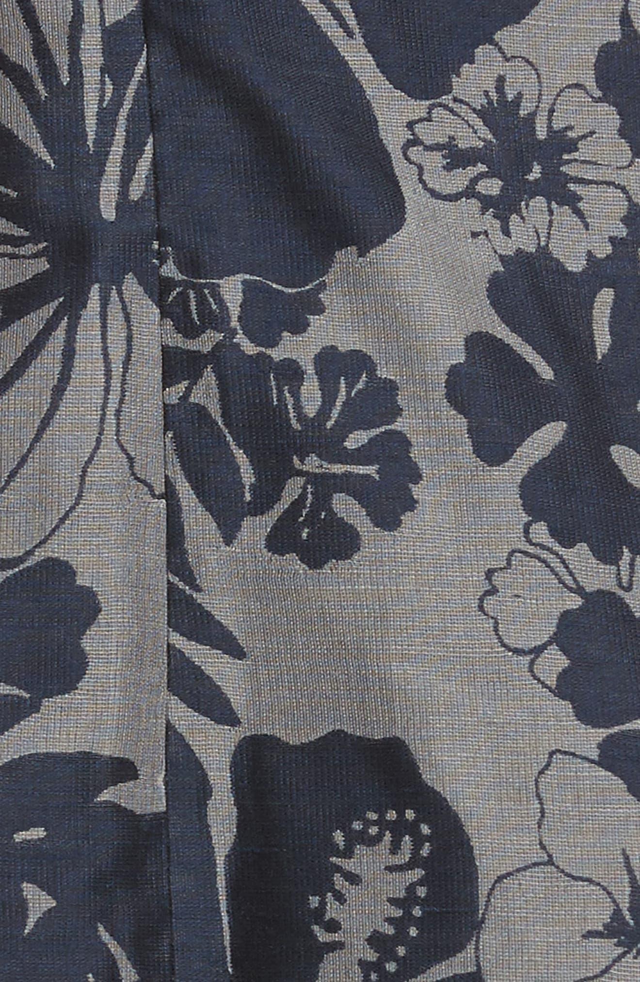 Alternate Image 5  - Stella McCartney Pleated Floral Jacquard Dress