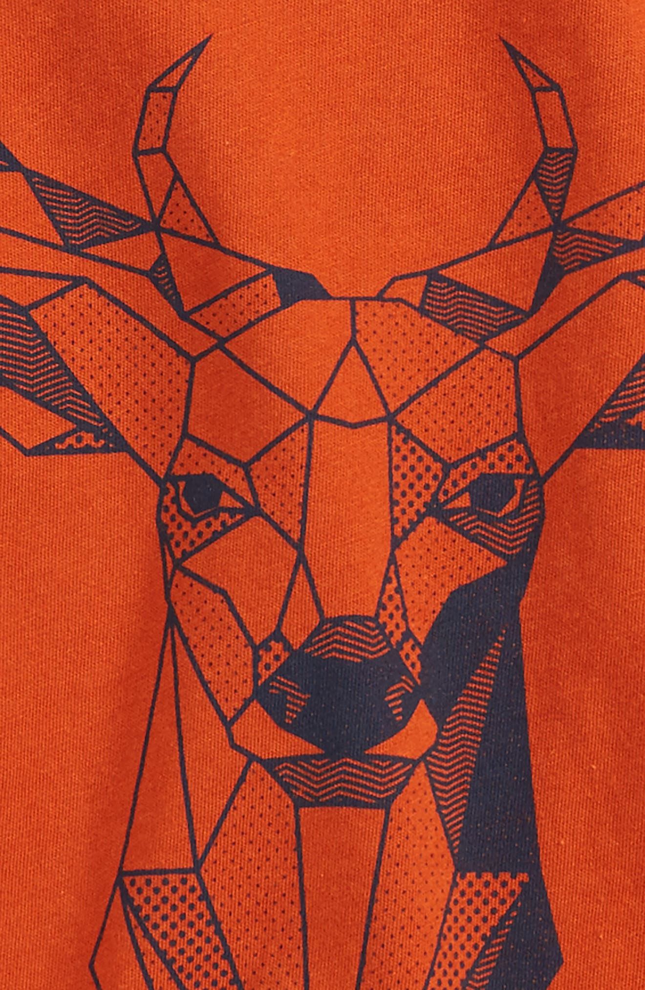 Geo Deer T-Shirt,                             Alternate thumbnail 2, color,                             Rust