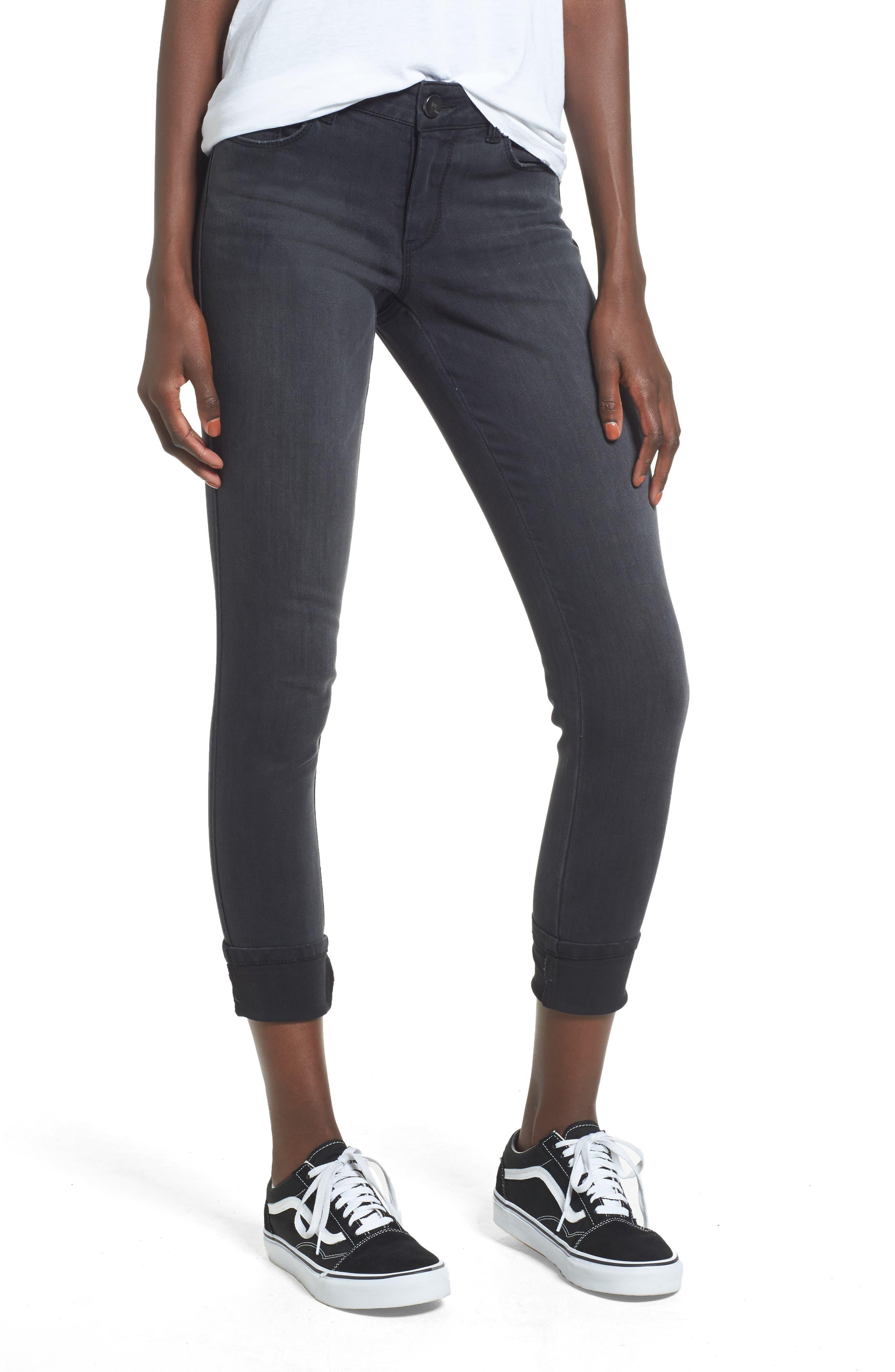 1822 Denim Cuffed Ankle Skinny Jeans (Aberdeen)