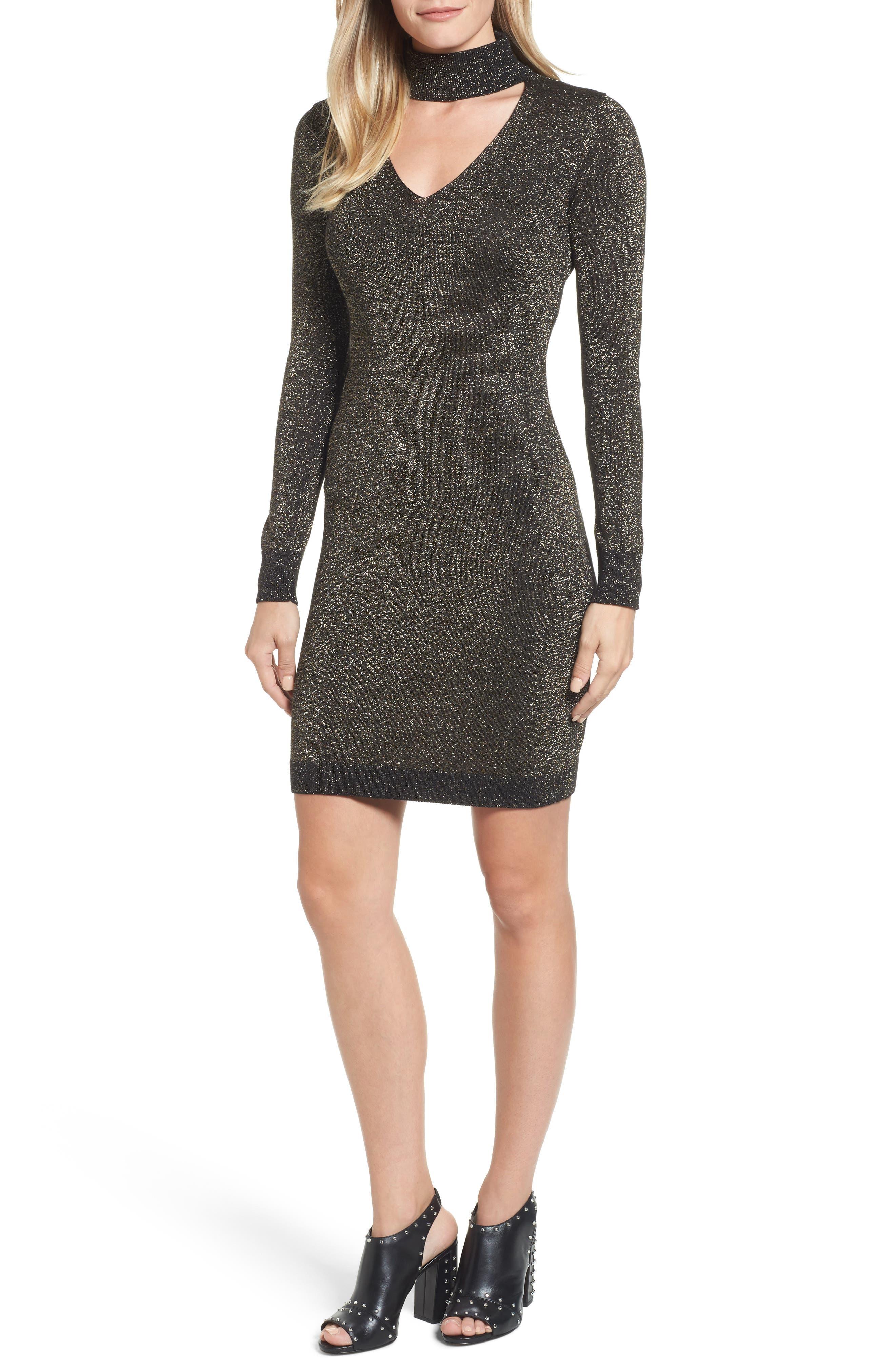 Main Image - MICHAEL Michael Kors Choker Sweater Dress