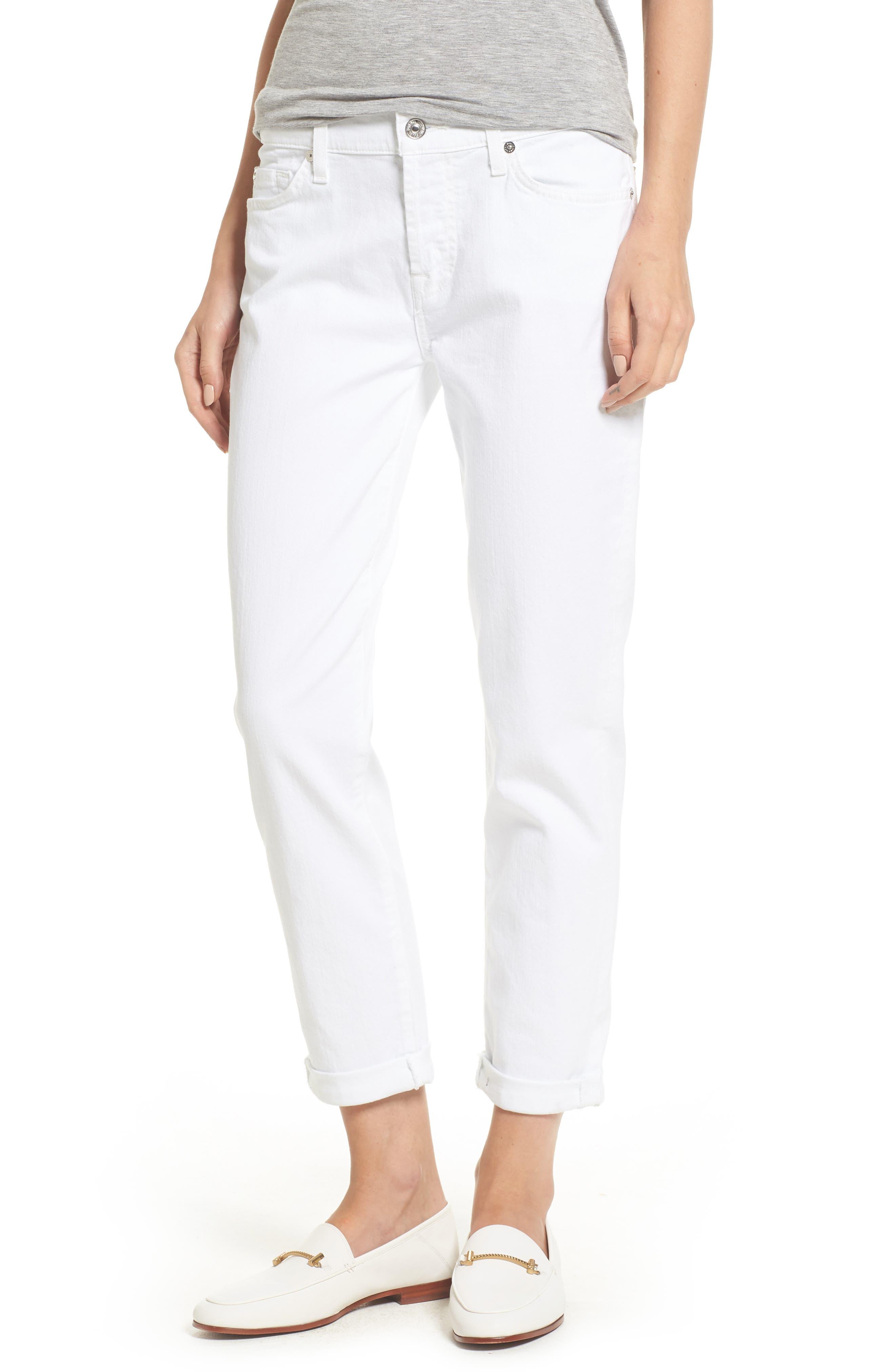 'Josefina' Boyfriend Jeans,                         Main,                         color, Clean White