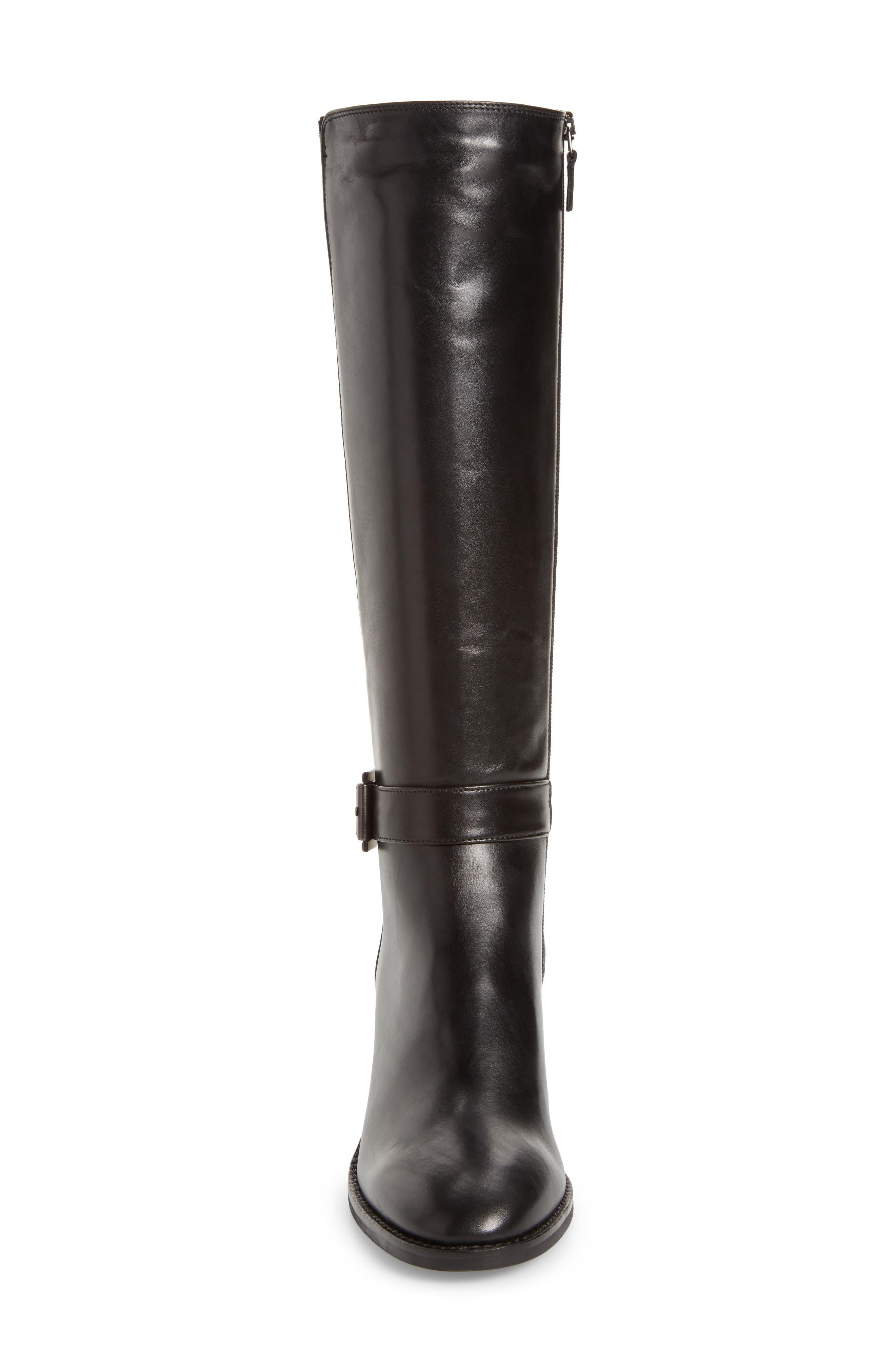 Joanna Weatherproof Tall Boot,                             Alternate thumbnail 4, color,                             Black