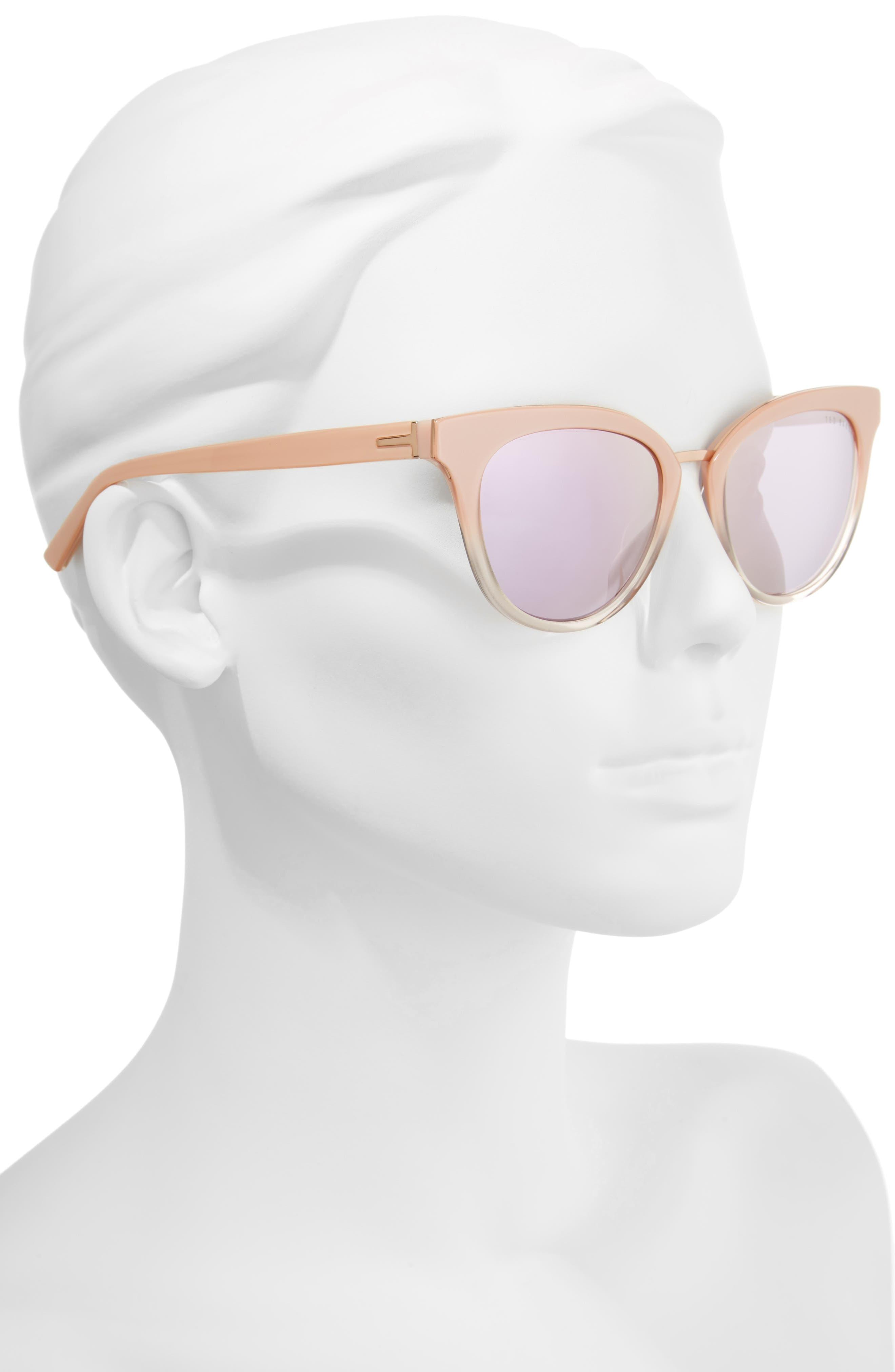 53mm Cat Eye Sunglasses,                             Alternate thumbnail 2, color,                             Blush