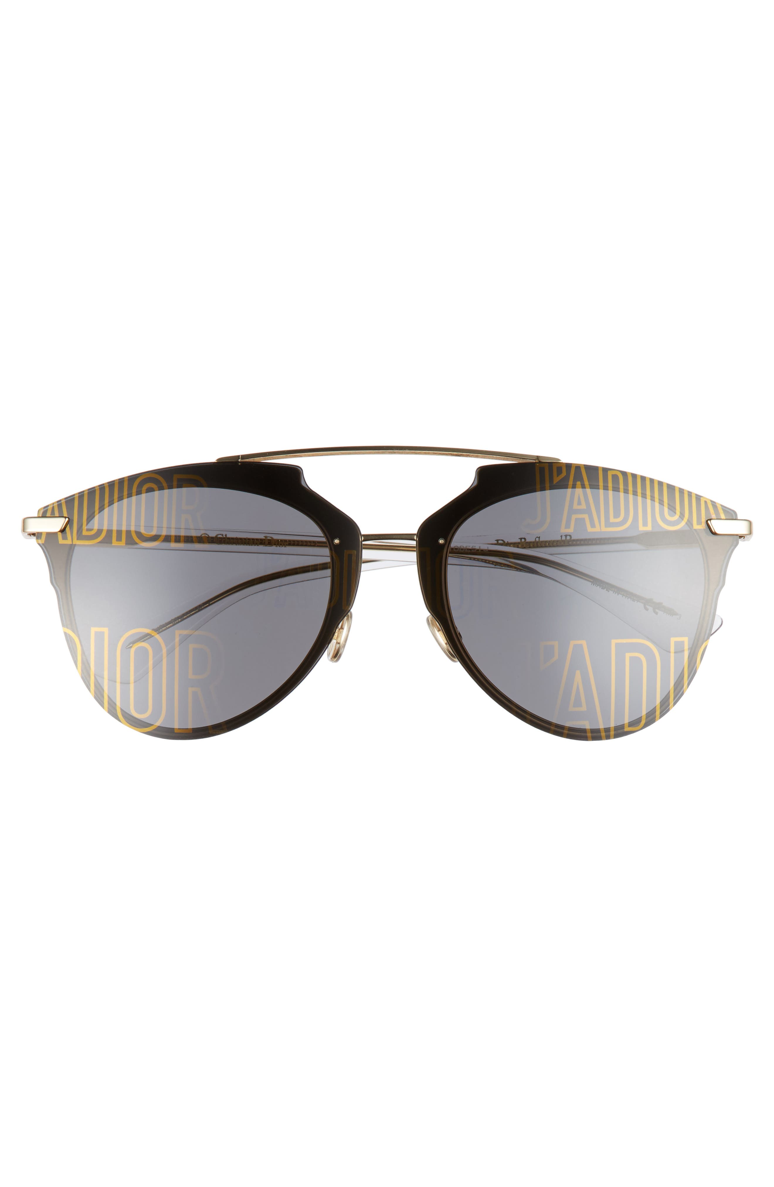Alternate Image 3  - Dior Reflected Prism 63mm Oversize Mirrored Brow Bar Sunglasses