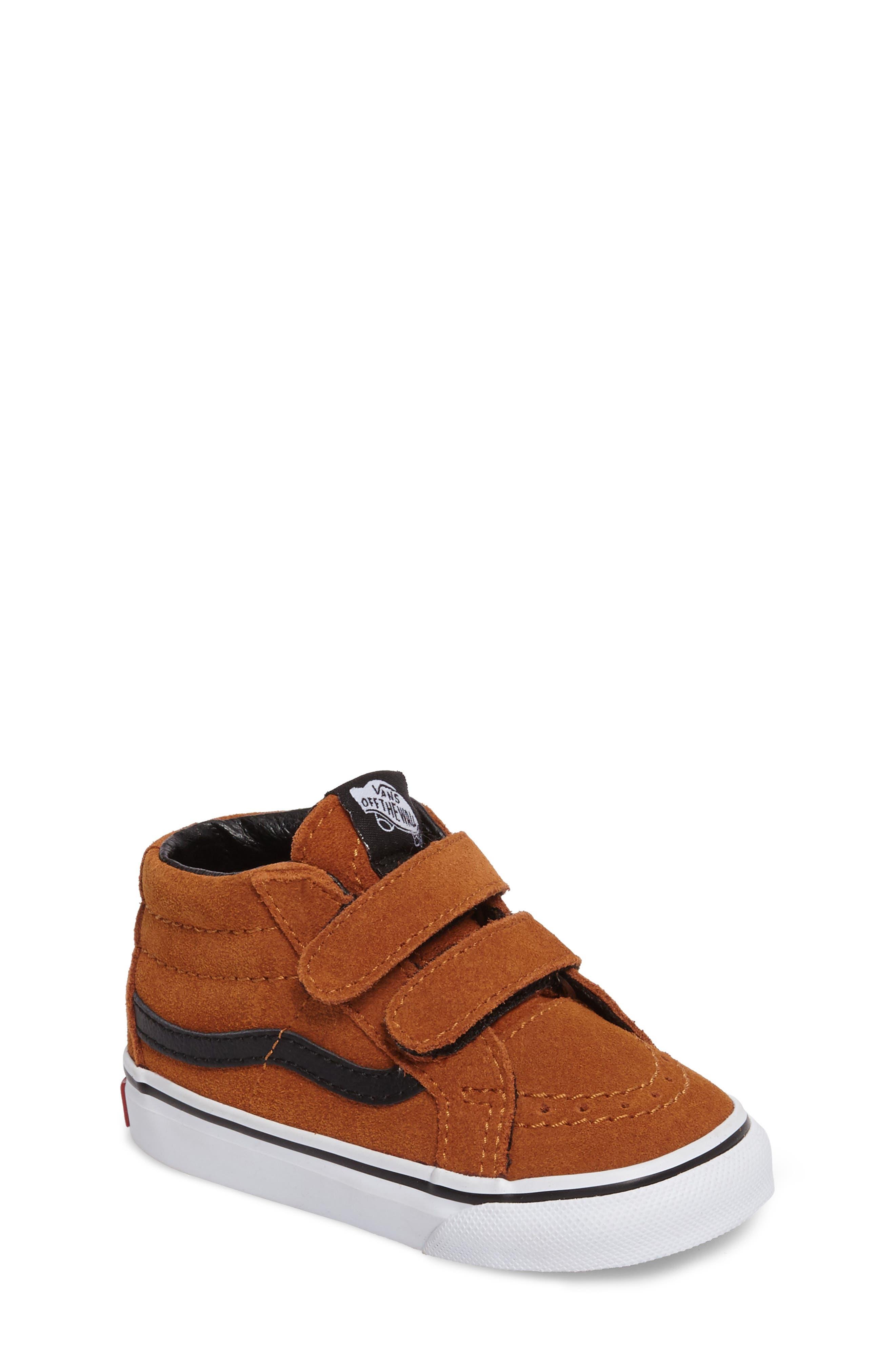 SK8-Mid Reissue Sneaker,                             Main thumbnail 1, color,                             Glazed Ginger/ Black