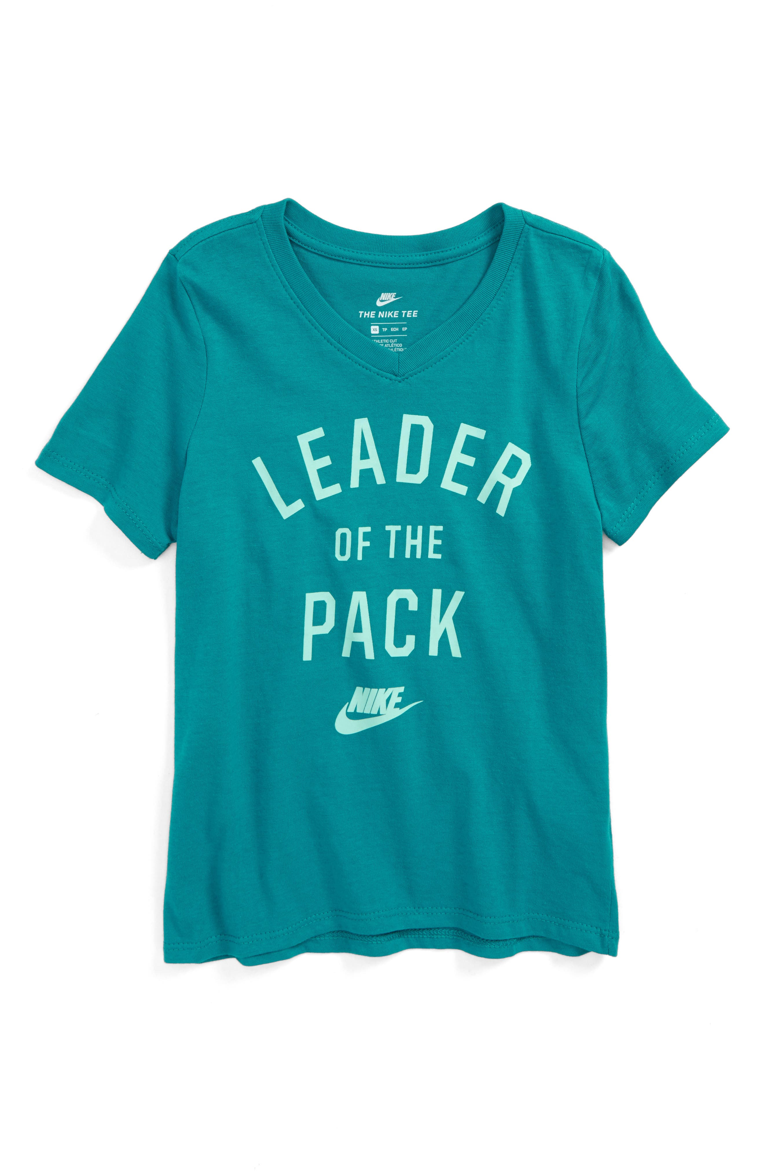 Leader of the Pack Tee,                         Main,                         color, Blustery/ Mint Foan